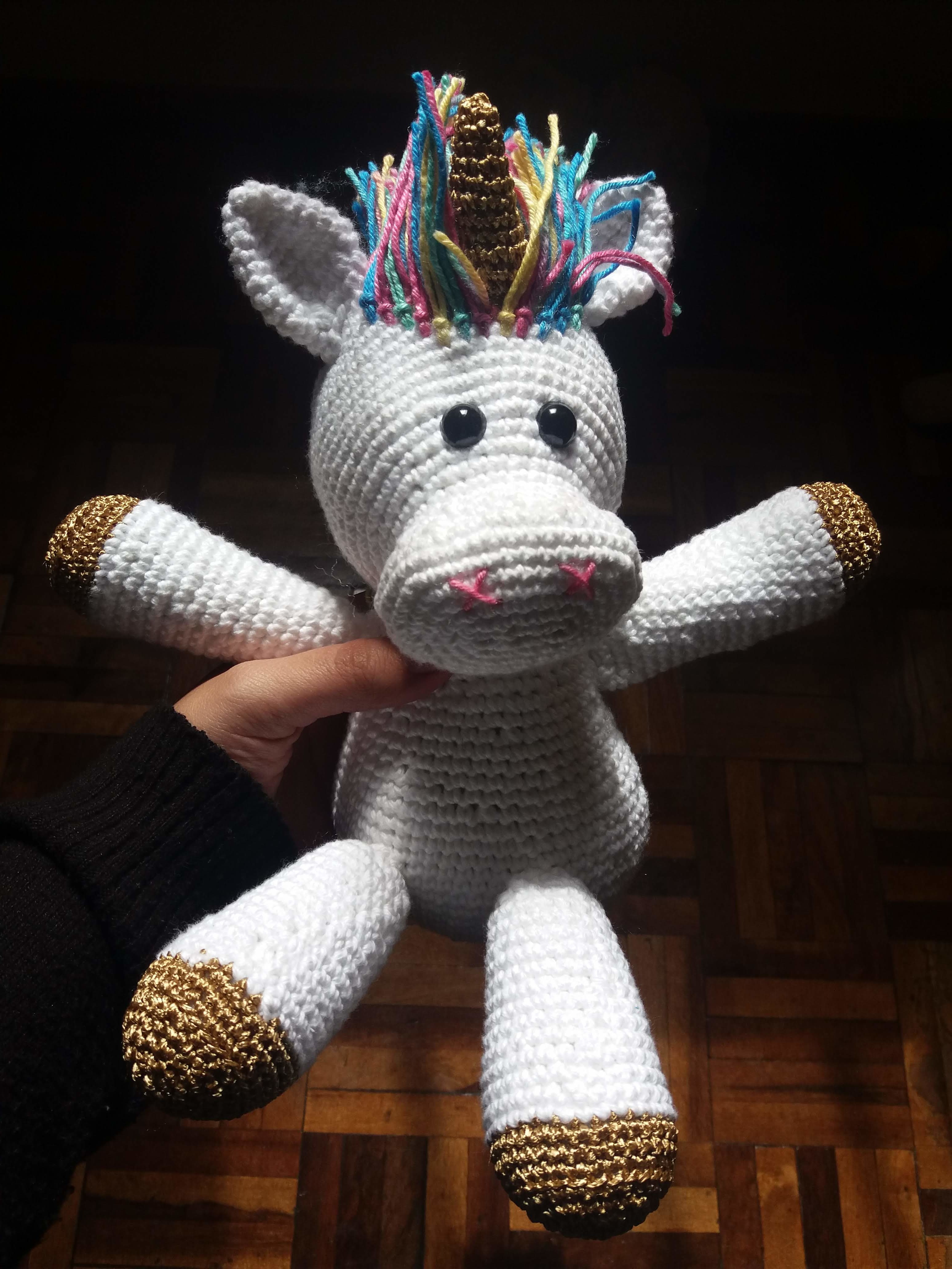 Amigurumi Unicornio Coton con patrón | Terapia Ganchillera | 4128x3096