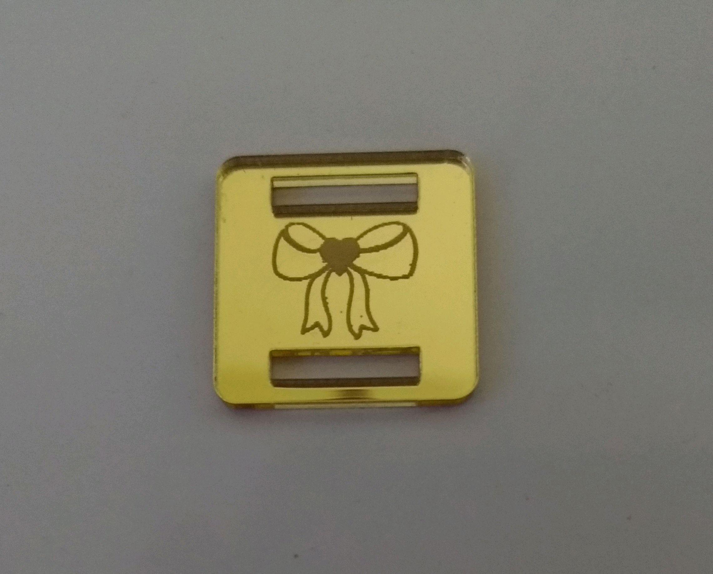 594f107b7 Finalizador em Acrilico Dourado | Elo7