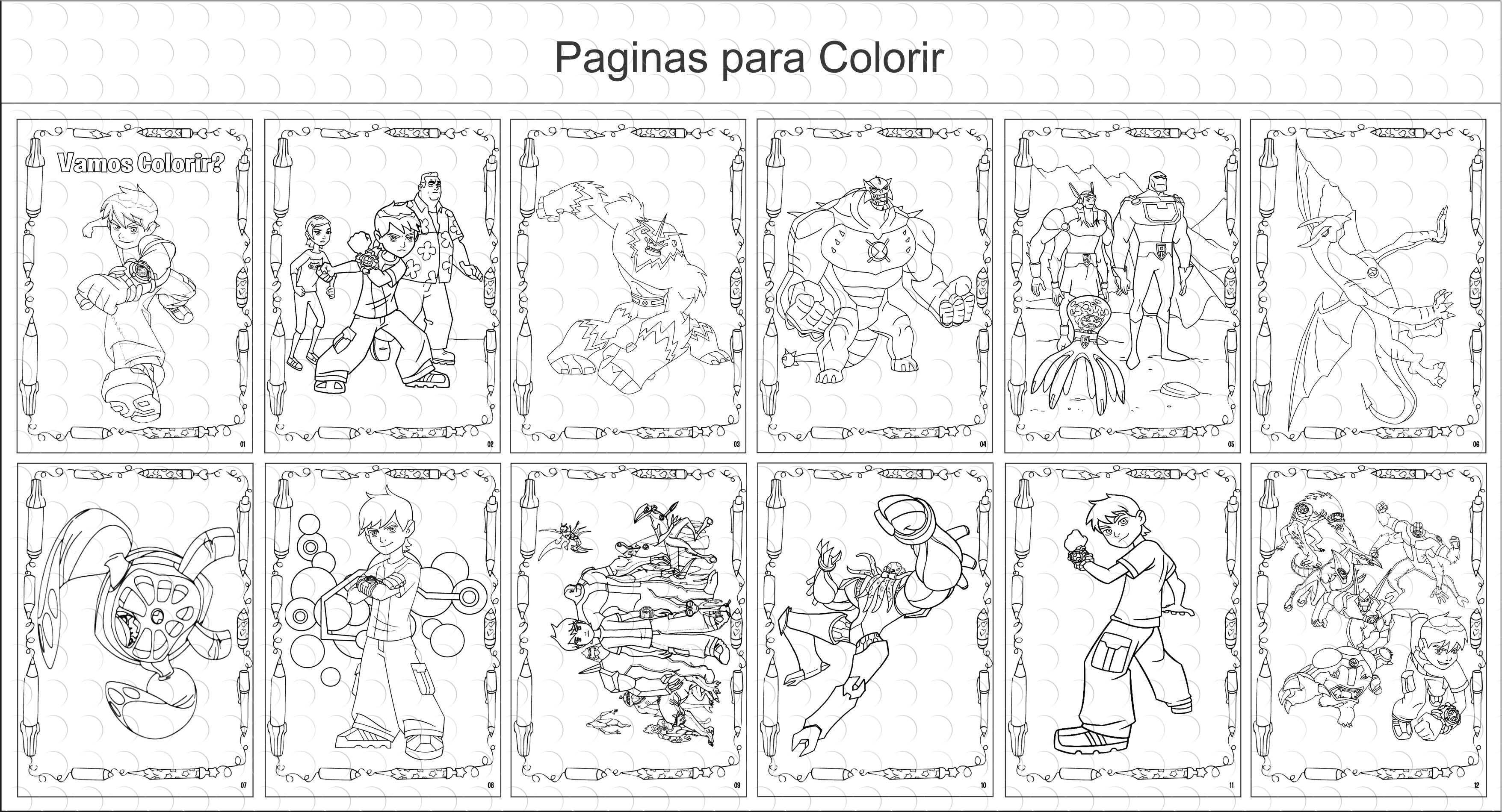 Livro De Colorir 10x15 Ben10 No Elo7 G A Personalize F4ede8