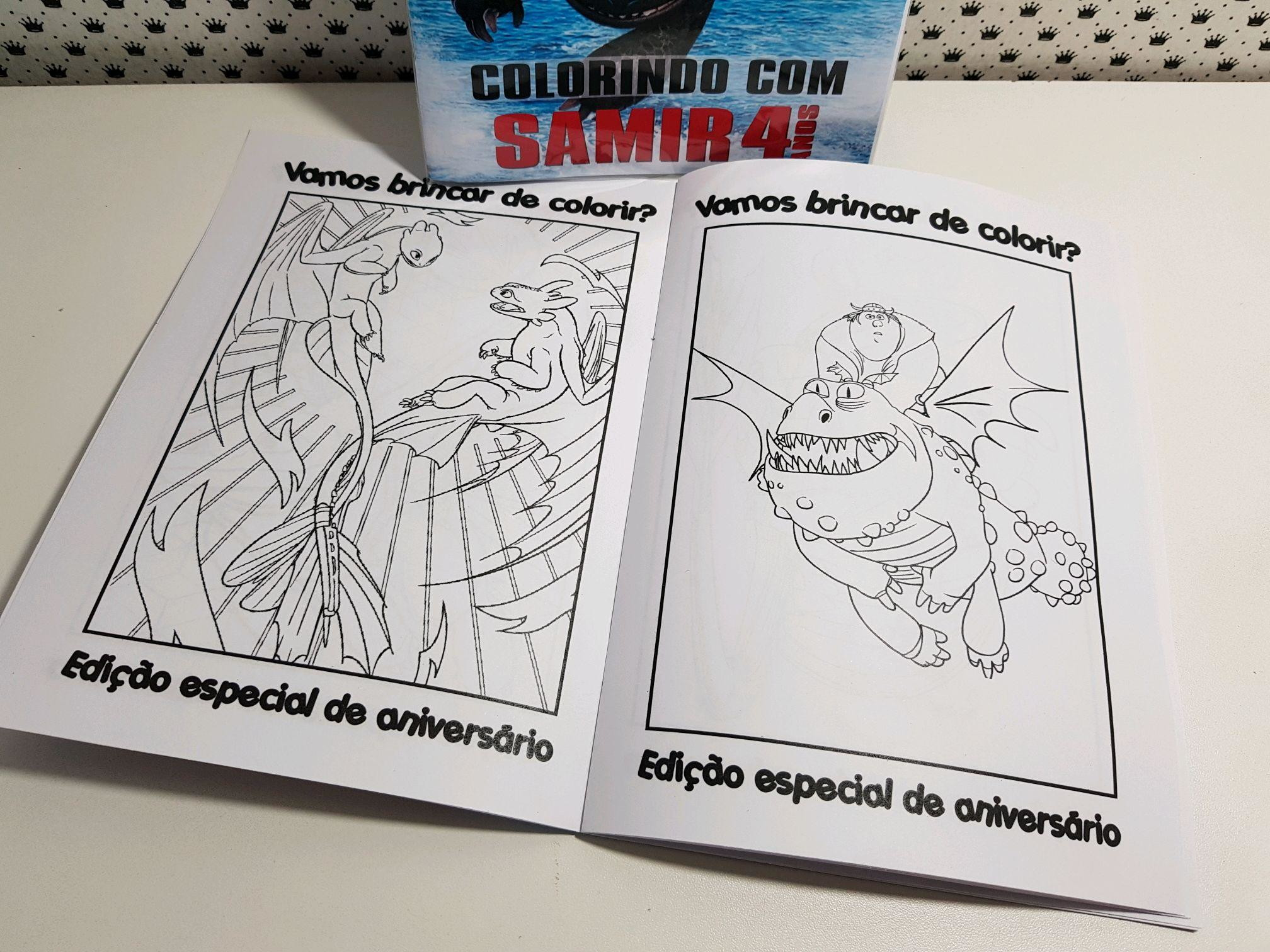 Como Treinar Seu Dragao Revista Colorir No Elo7 Seculus