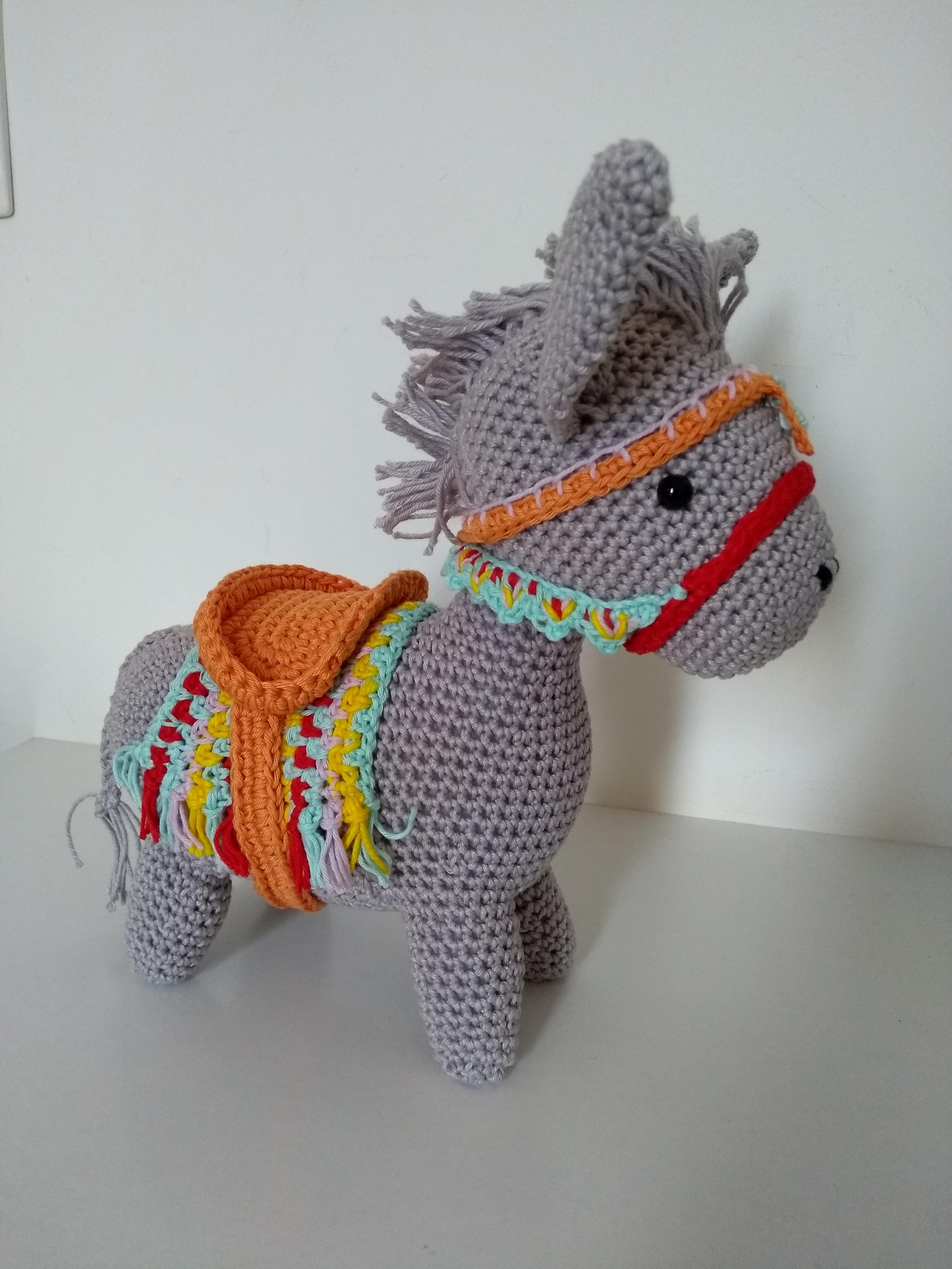 Pedro the amigurumi Donkey Crochet PDF pattern gray donkey | Etsy | 4160x3120