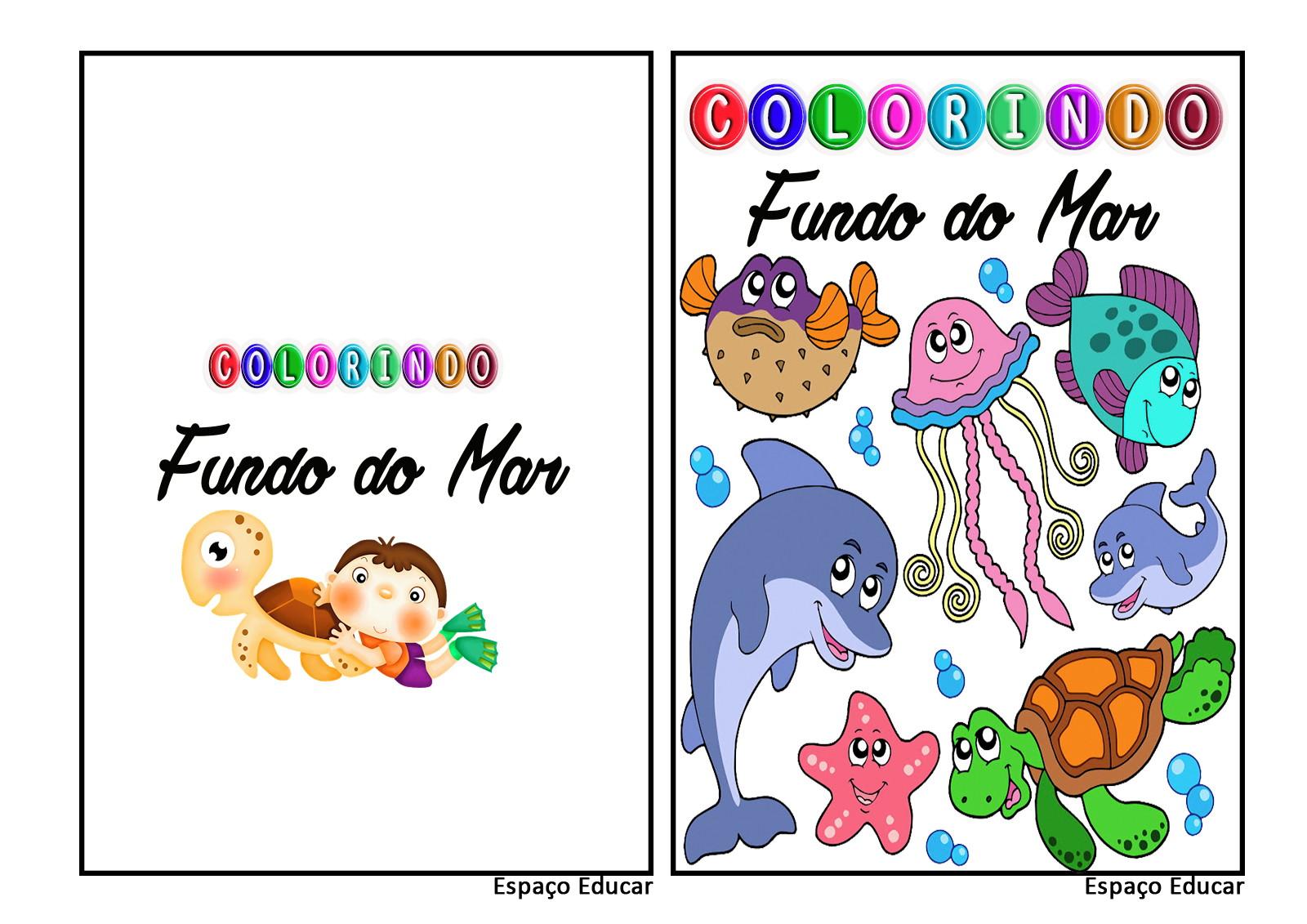 Revista Colorir Fundo Do Mar Pdf 29 No Elo7 Espaco Educar Loja