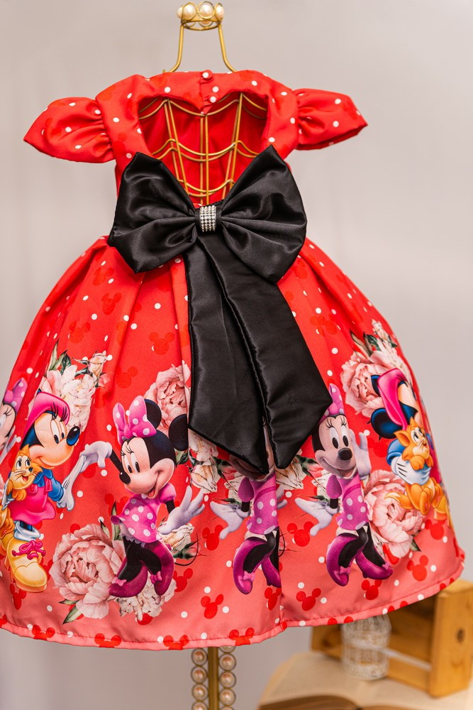 Vestido Da Minnie Vermelha Luxo No Elo7 Anagiovanna Vestidos