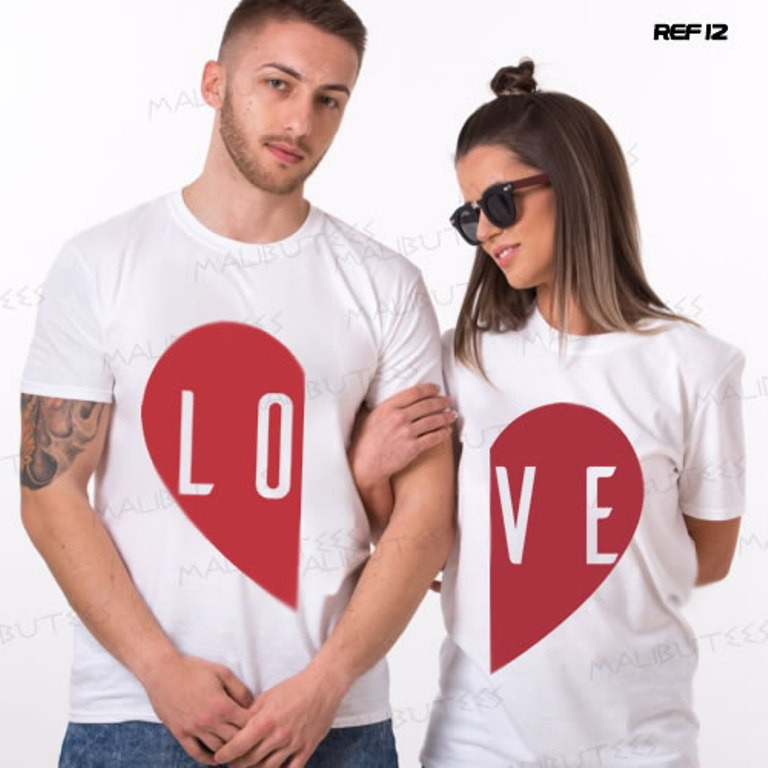6b123dadcbcfe Camisetas Namorados Love Casal Amarela | Elo7