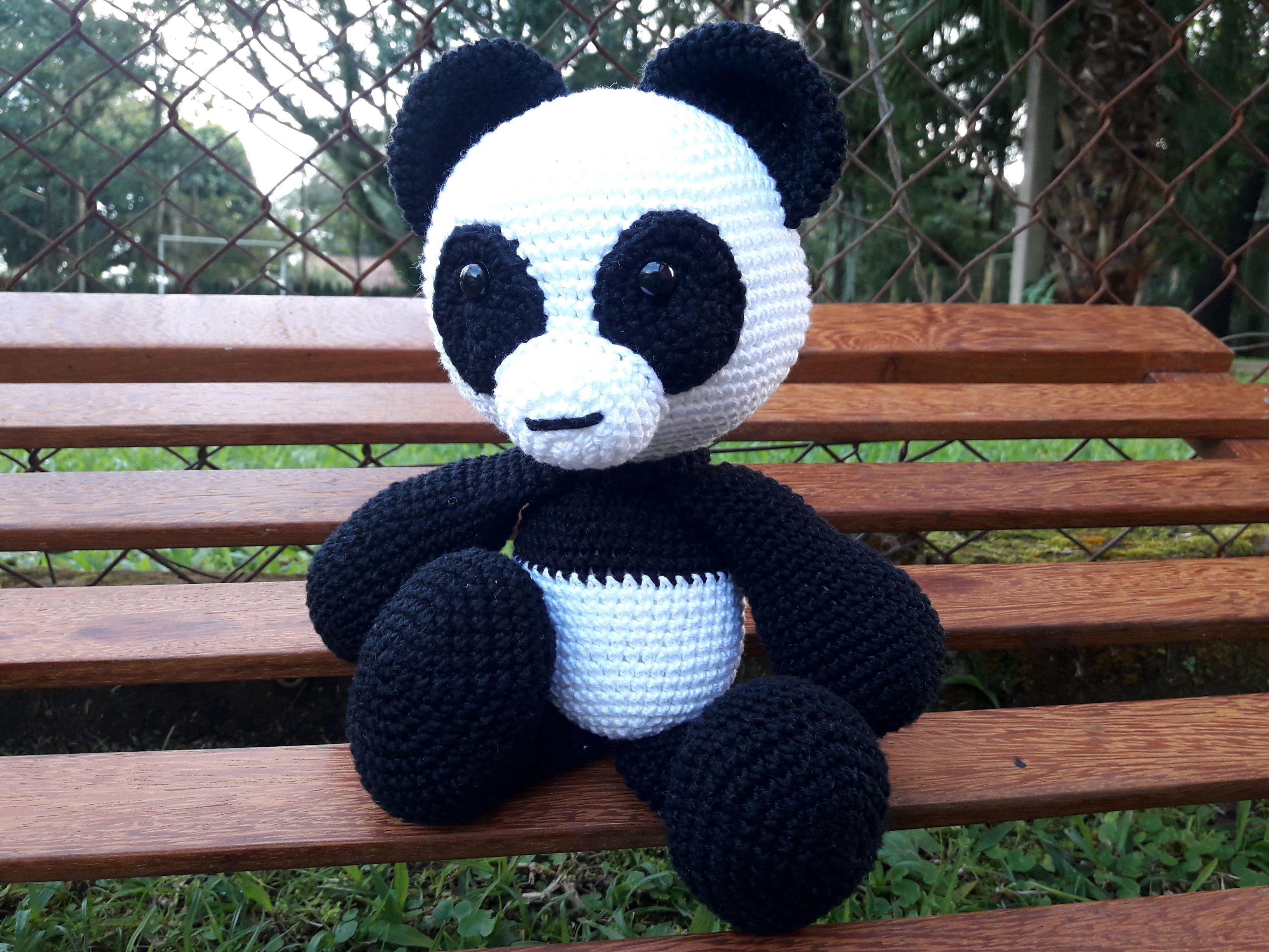 Panda amigurumi – Descrição do Passo a Passo – Bonek de Crochê | 2448x3264