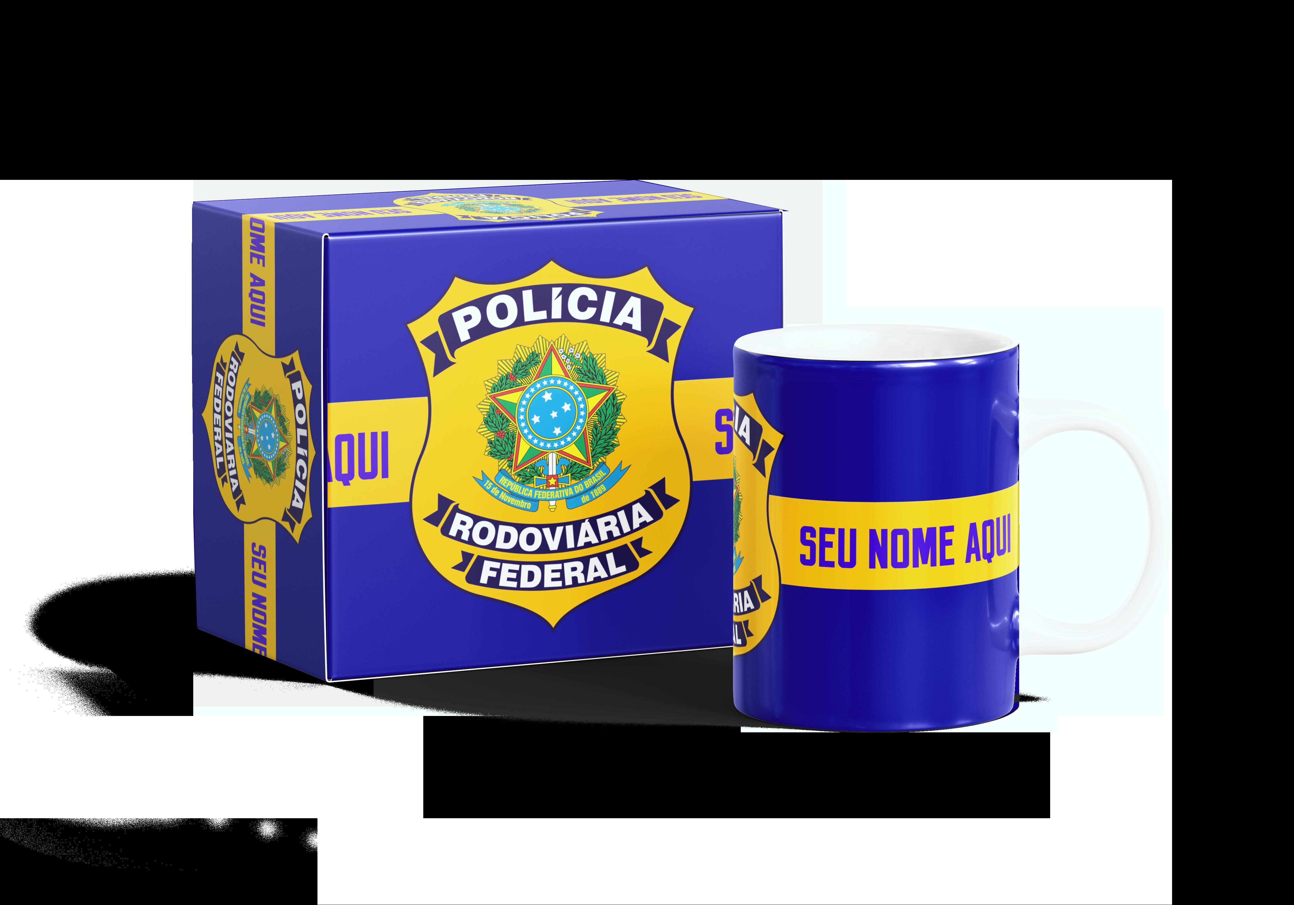 c0e0489bea Caneca Brasão Polícia Federal | Elo7