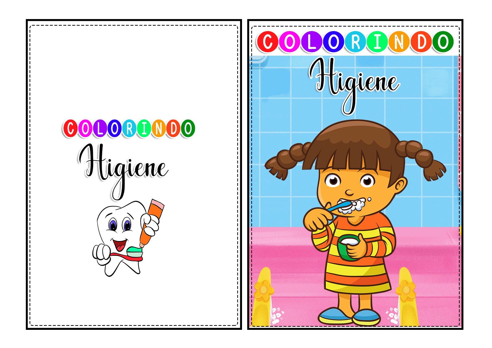 Livro Da Higiene Para Colorir Atividades Pdf 39