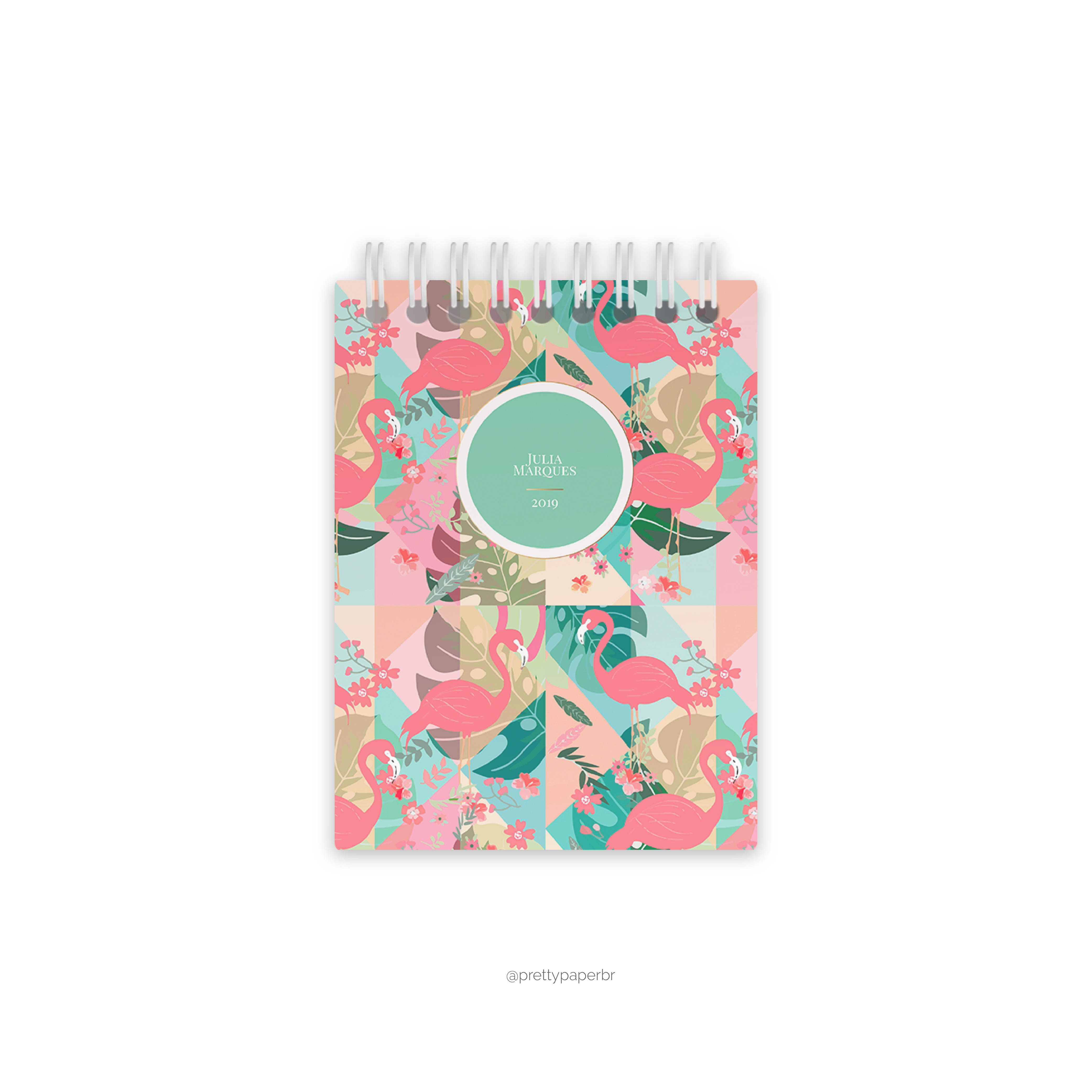 5452d2b670 Caderneta Flamingo   Elo7