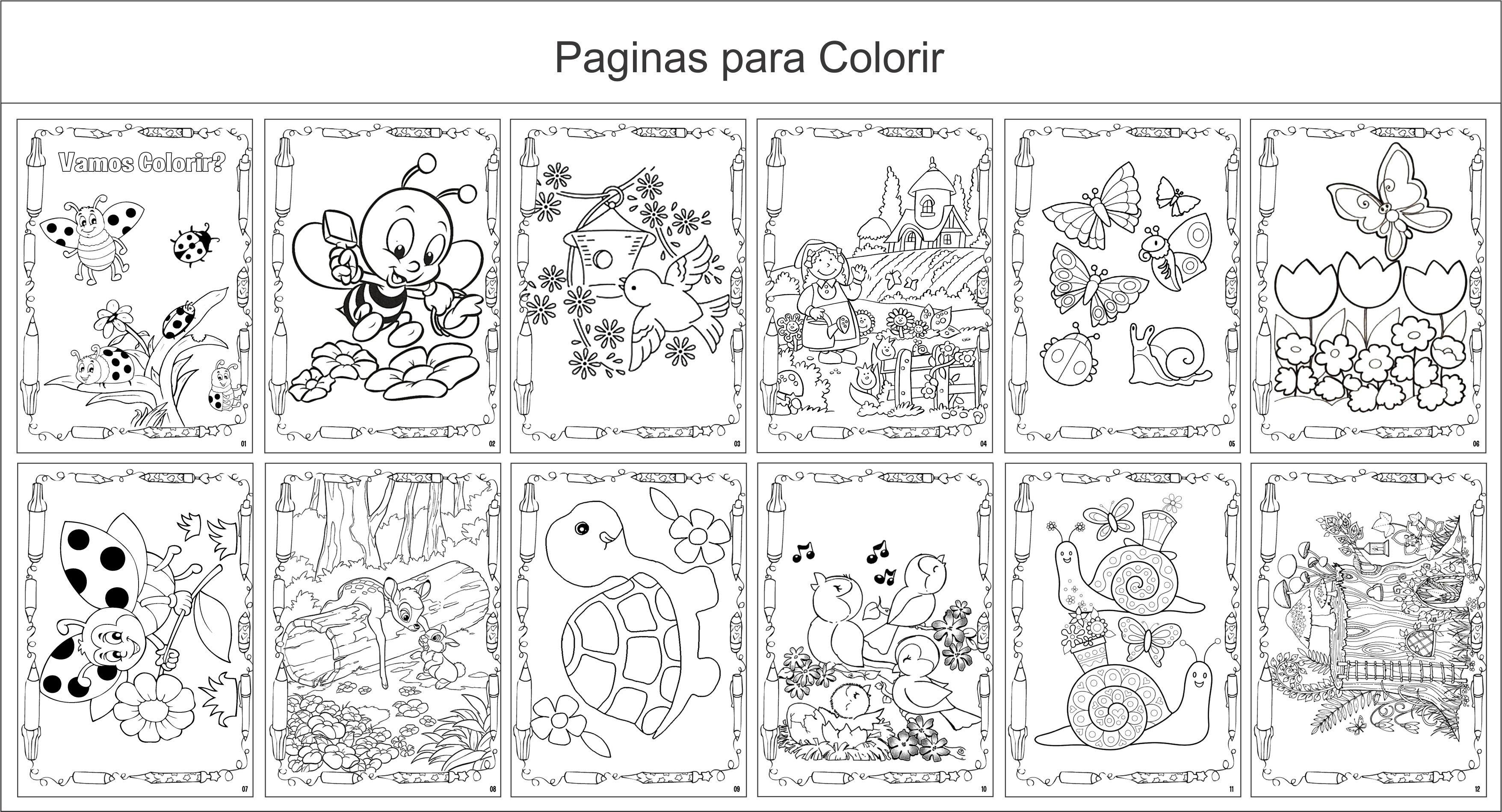 Livro De Colorir 10x15 Jardim Encantado 4 No Elo7 G A