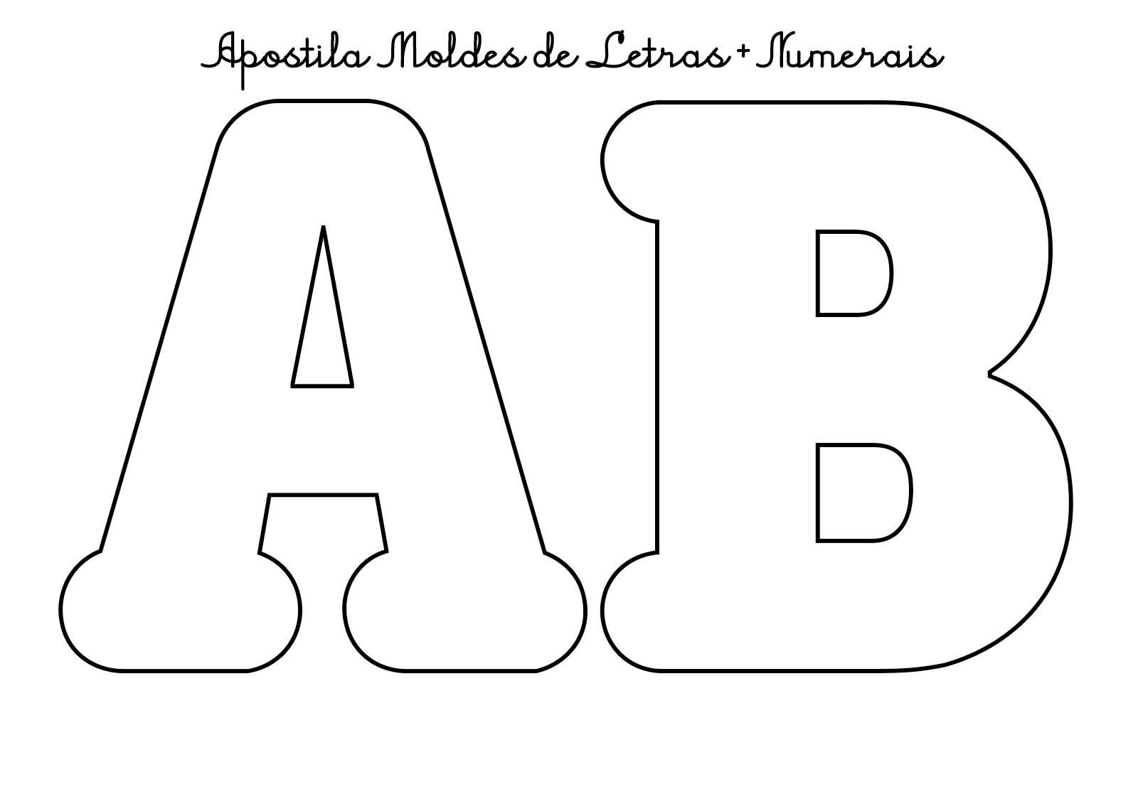Moldes Do Alfabeto Letras Tamanho Medio E Numeros Pdf 46 Abc No
