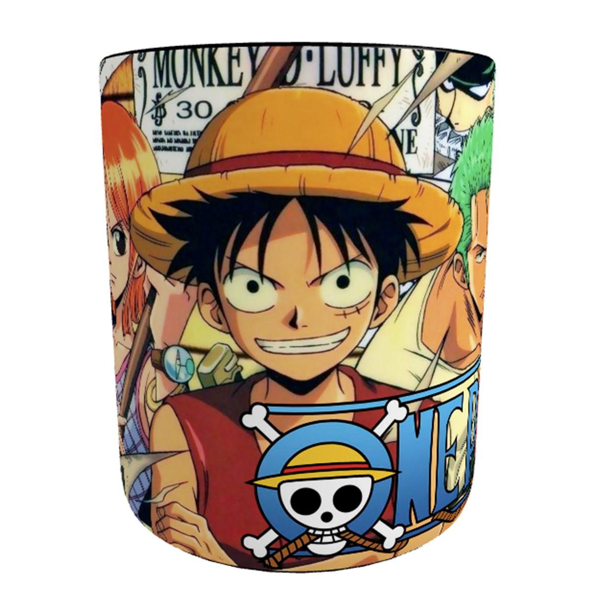 Caneca Mágica One Piece Piratas Do Chapéu De Palha No Elo7