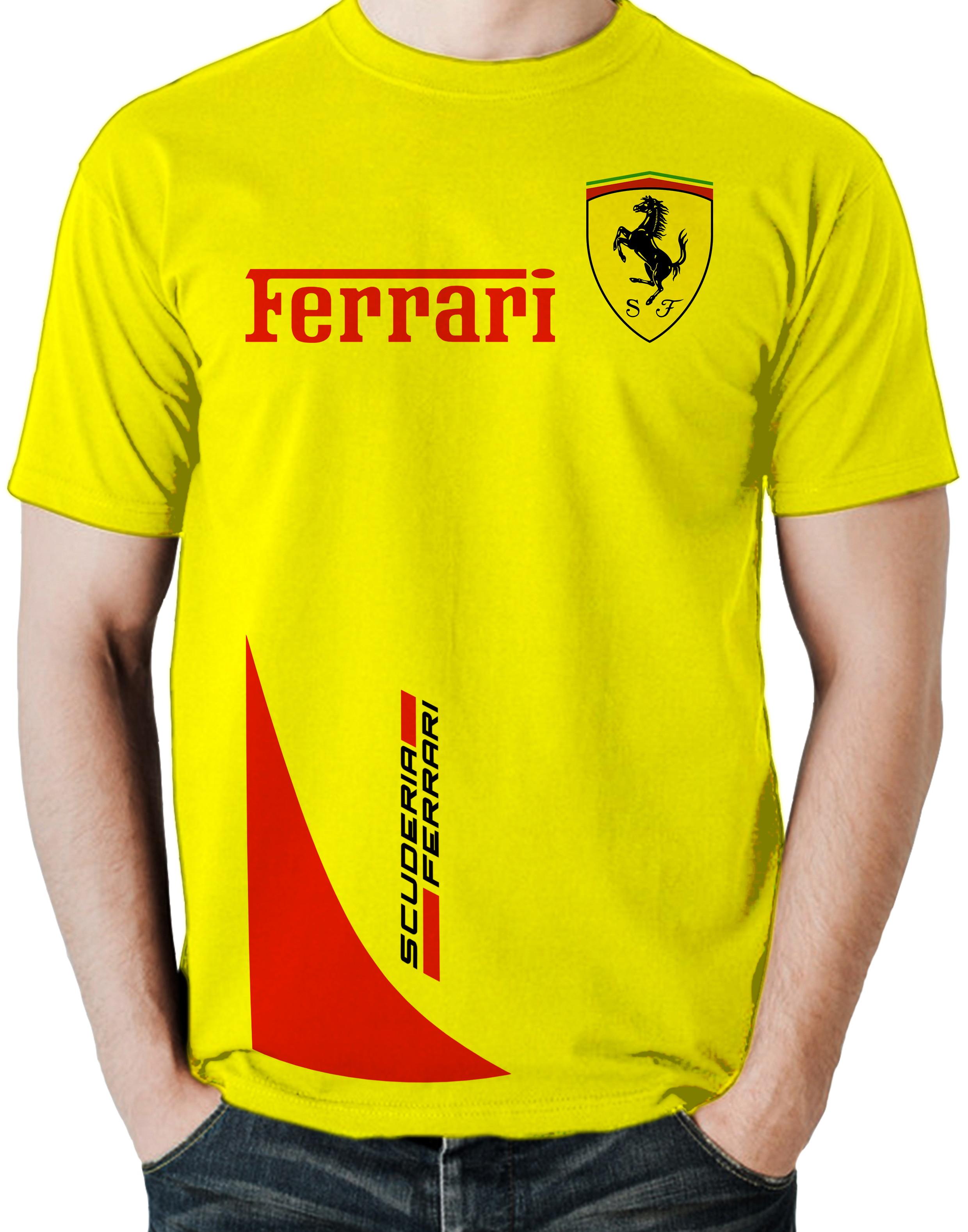 01e463c9c9 Camisa Ferrari   Elo7