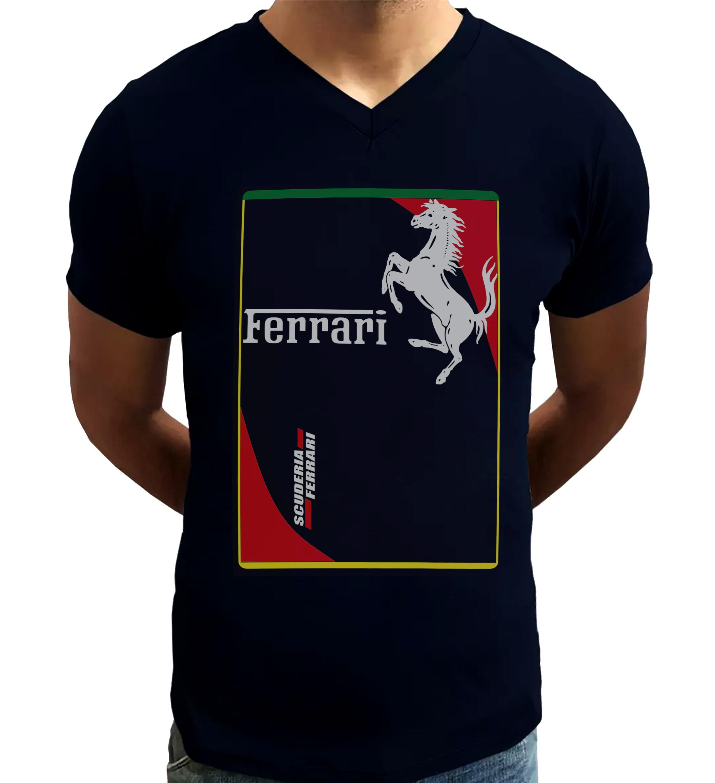 575babfc10 Camiseta Camisa Blusa Ferrari carros clássicos preta algodão no Elo7    MonkeySTL Camisetas (F9920D)