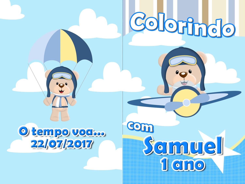 Revista Colorir Urso Aviador 14x10 No Elo7 Tudo De Festa Galvao