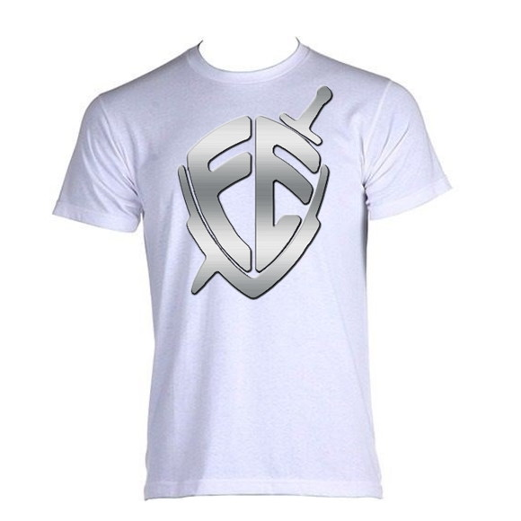 8124cf92d84 Camiseta Masculina Evangelica Escudo Fe | Elo7