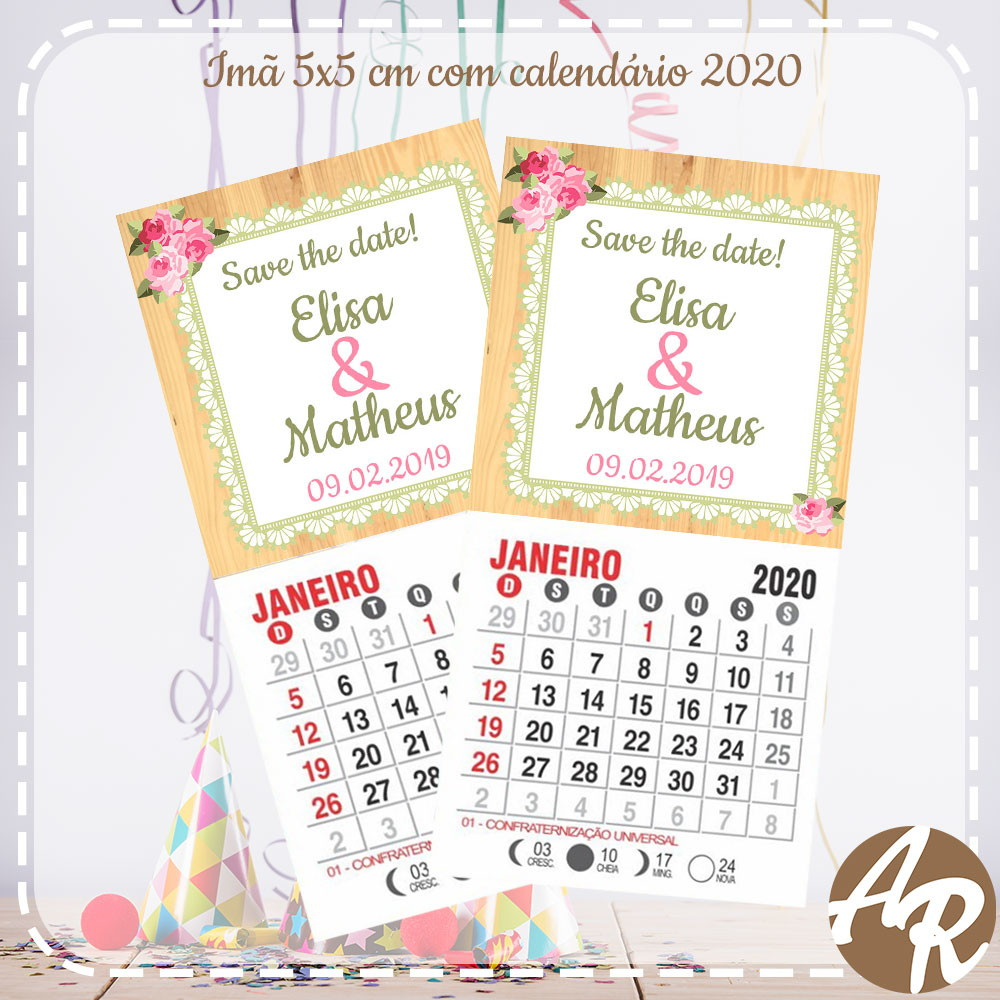 Calendario For Mens 2020.Ima Tema Casamento Com Calendario 2020