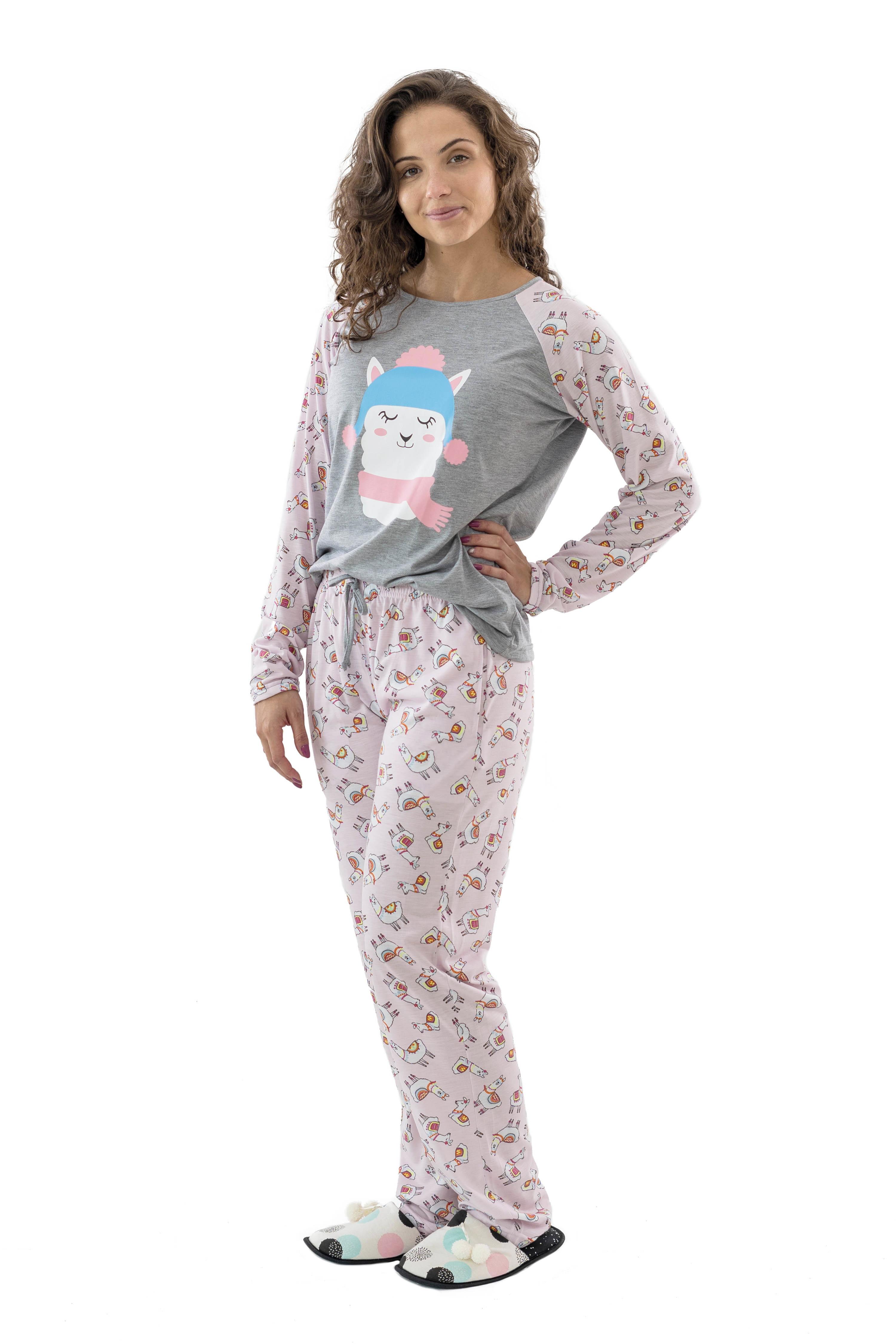 e35ea0d737ec19 Pijama Adulto Botoes Na Blusa | Elo7