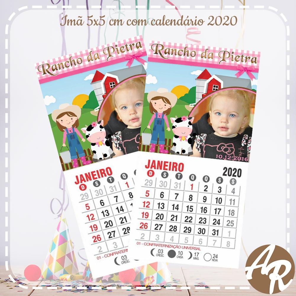 Calendario Rosa 2020.Ima Tema Fazendinha Rosa Com Calendario 2020