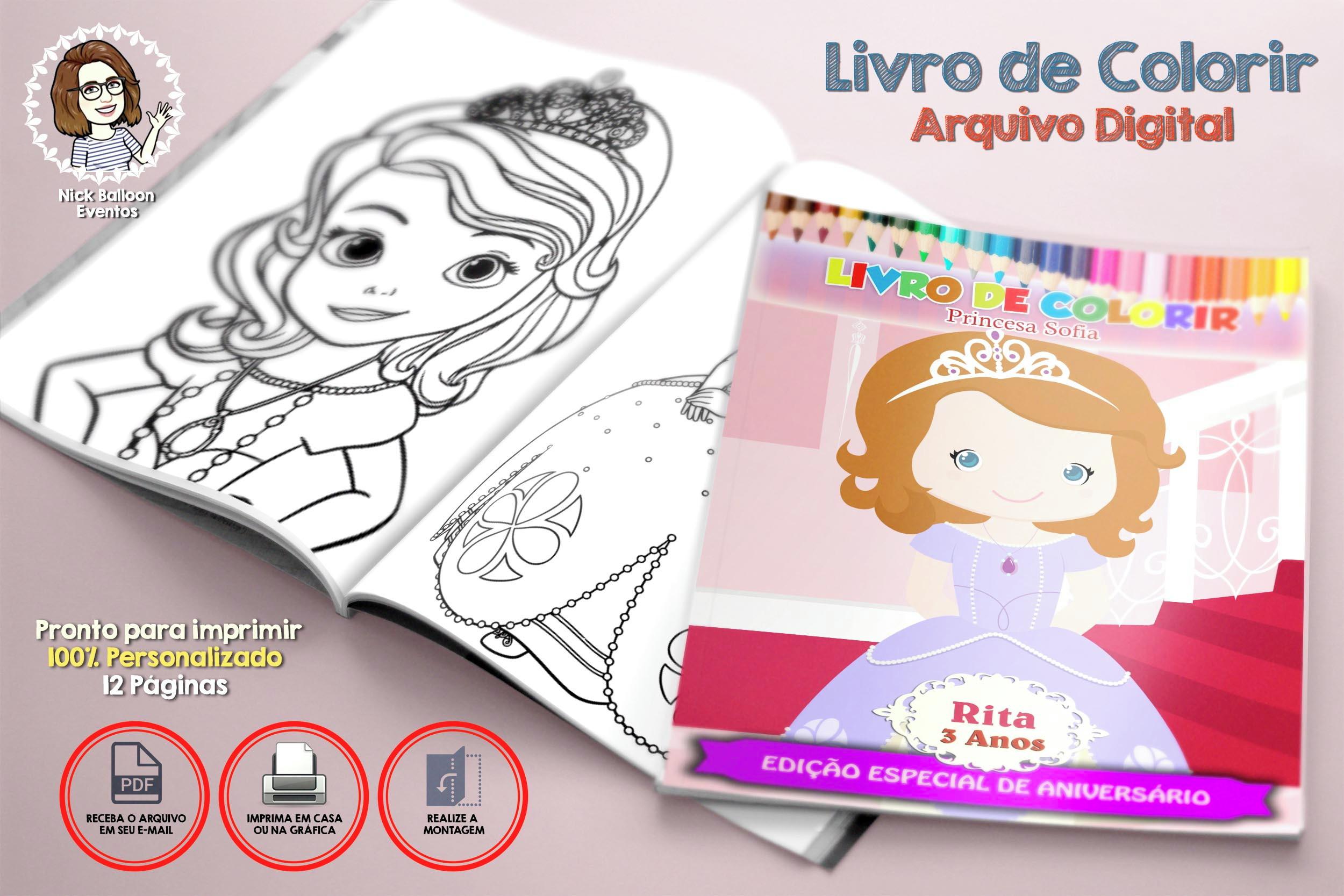 Livro De Colorir Princesa Sofia Arquivo Digital No Elo7 Nick