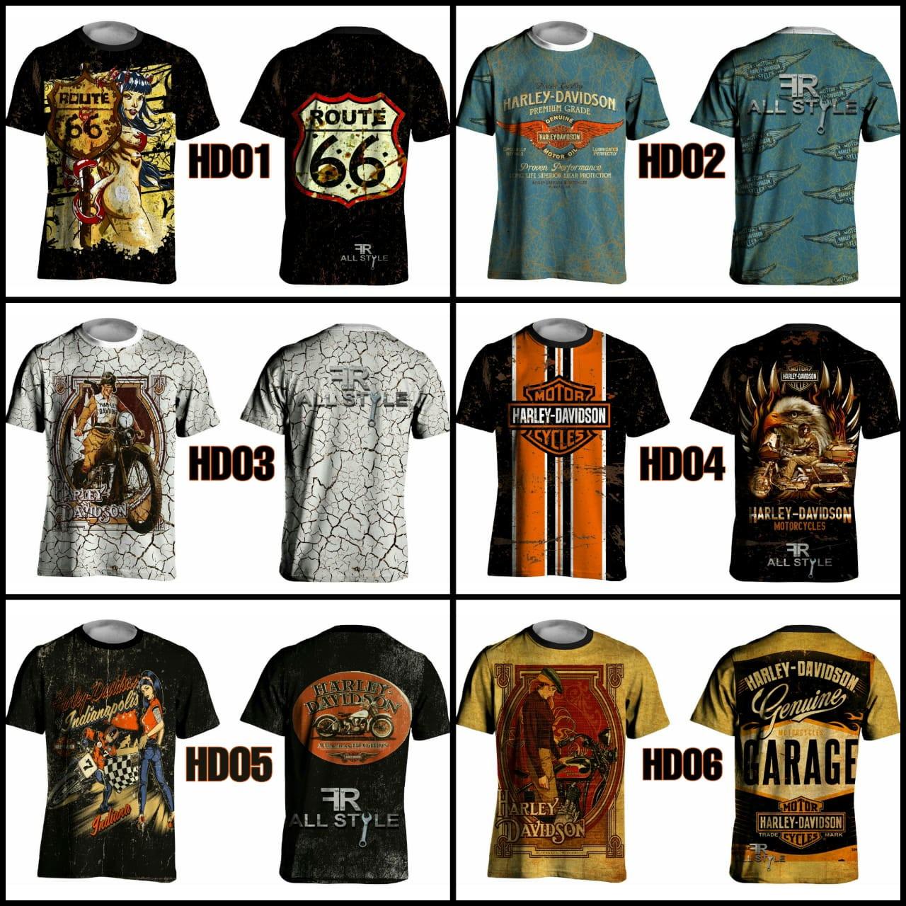 3167e59274372 Camiseta Harley Davidson Camisa Personalizada | Elo7