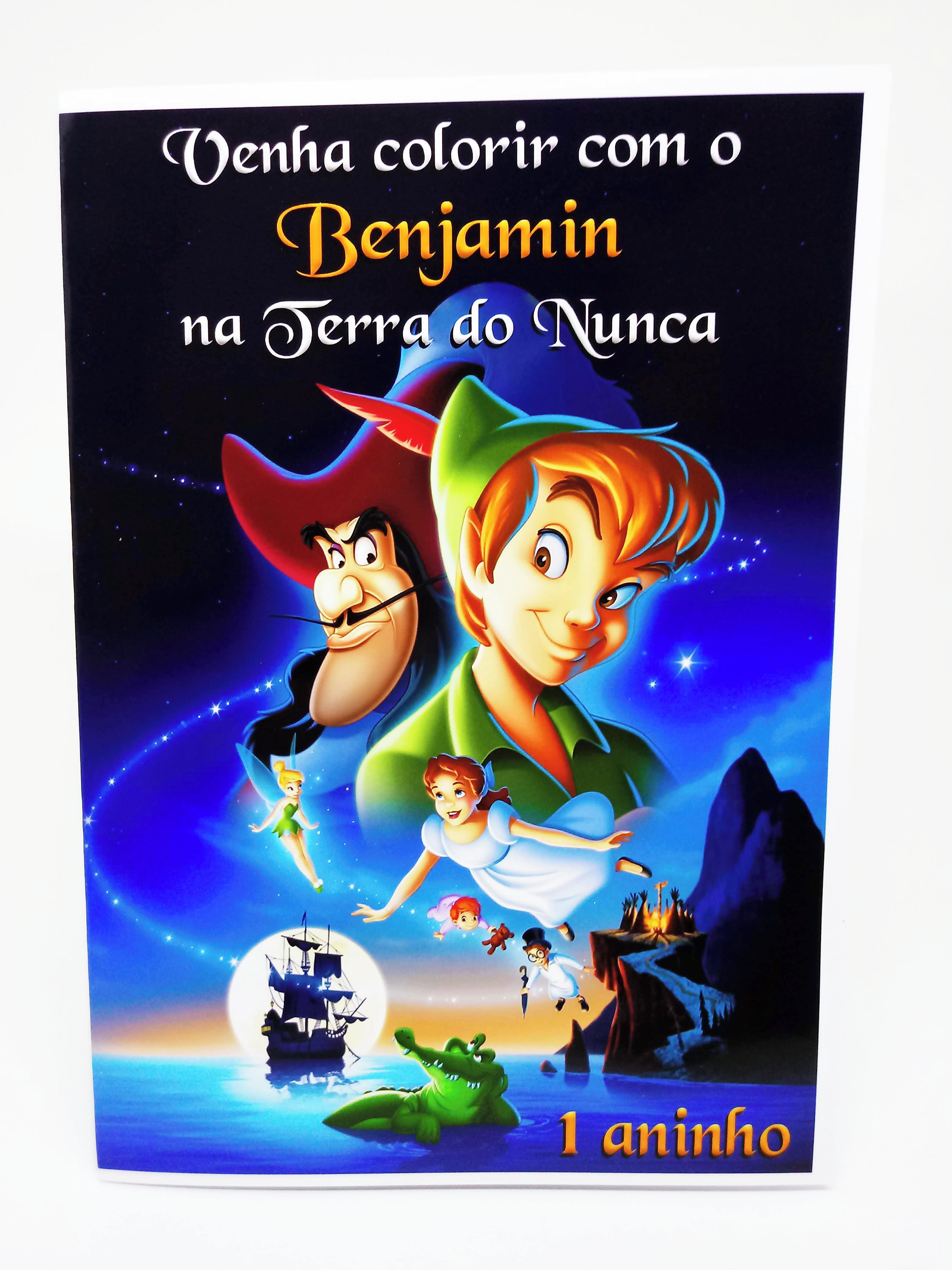 Kit Livro De Colorir Peter Pan No Elo7 Brilho Unico