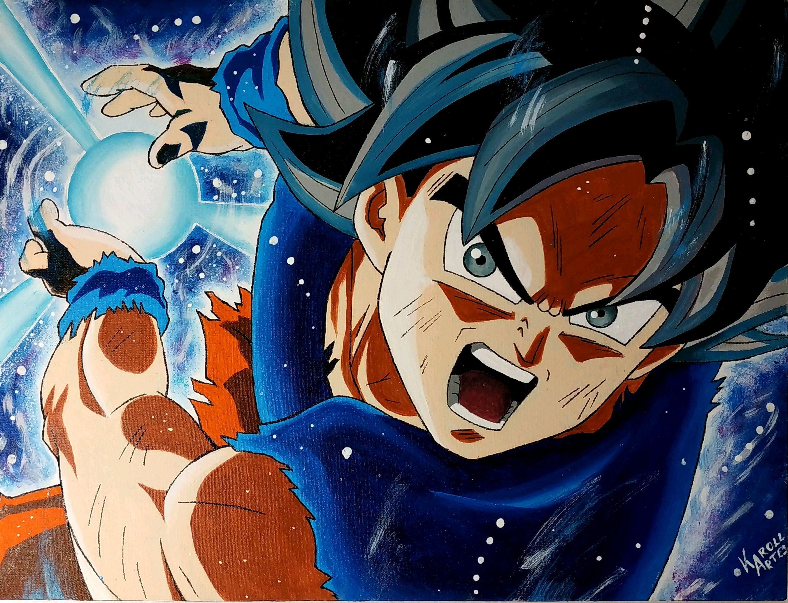 Pintura Em Tela Goku Instinto Superior Db Super