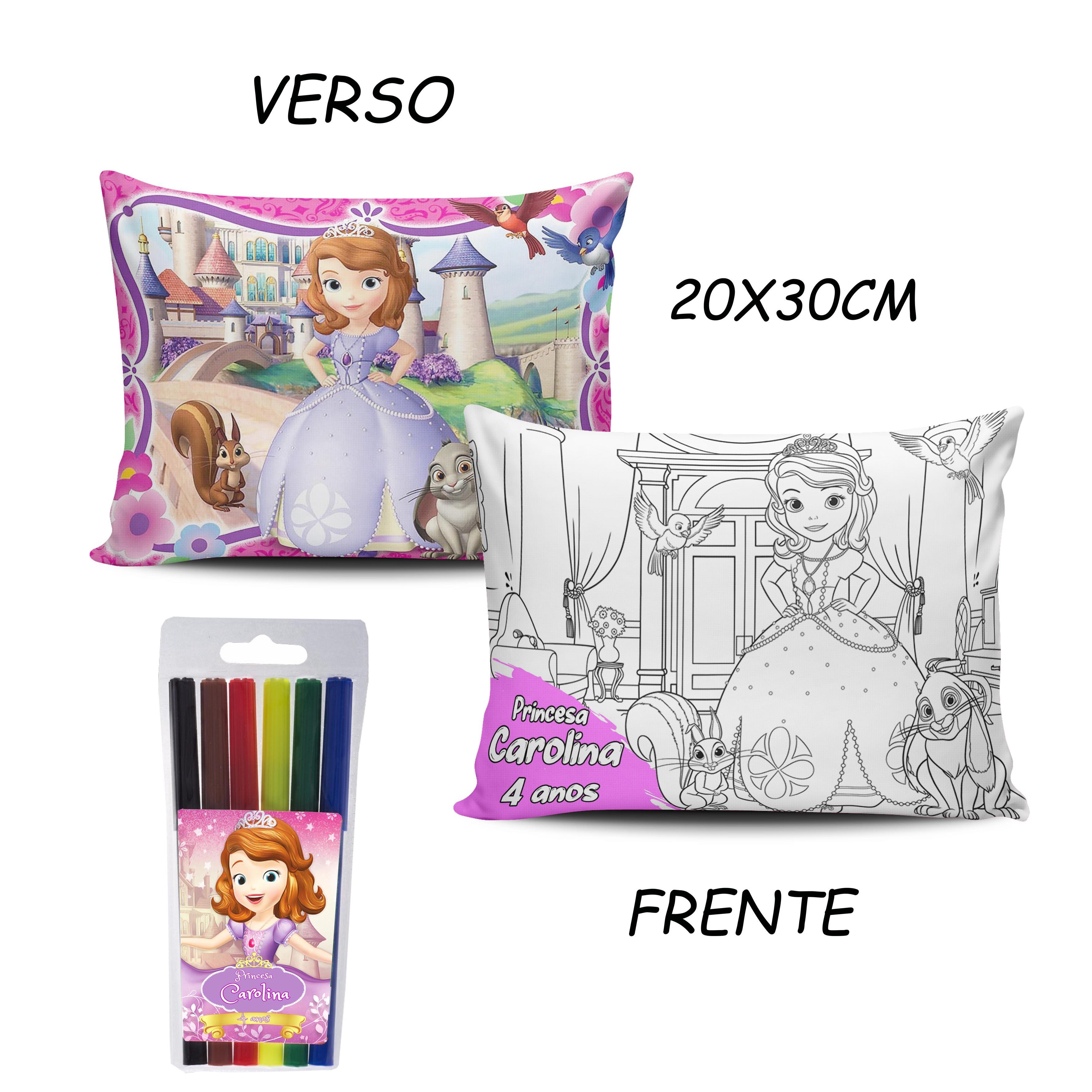 Lembrancinhas Princesa Sofia Almofada Para Pintar 20x30 Cm No