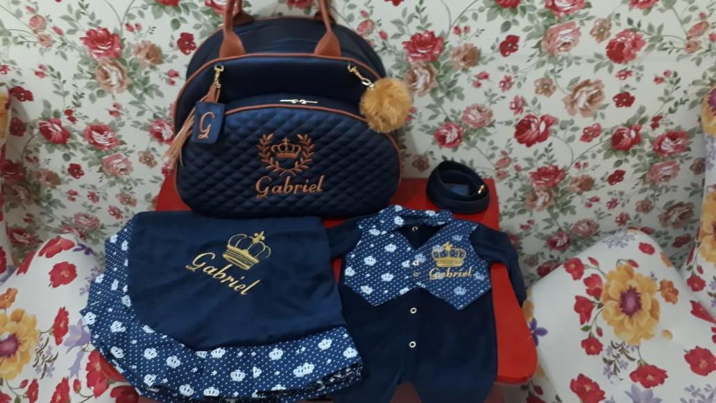 e4121f734cfe Bolsa Maternidade Tamanho G Personalizada Menina Menino | Elo7