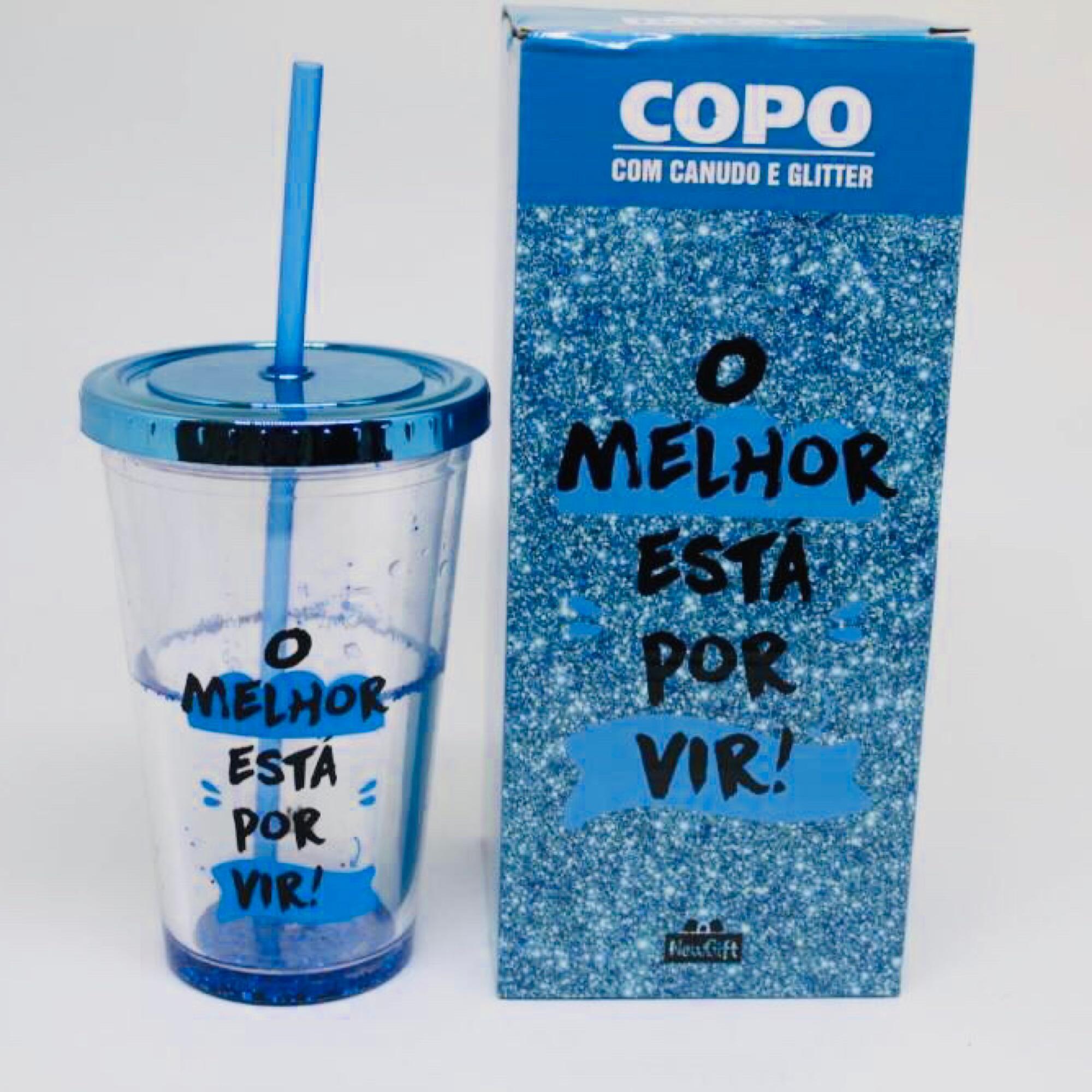fd8e34503f344e Copo Canudo glitter azul