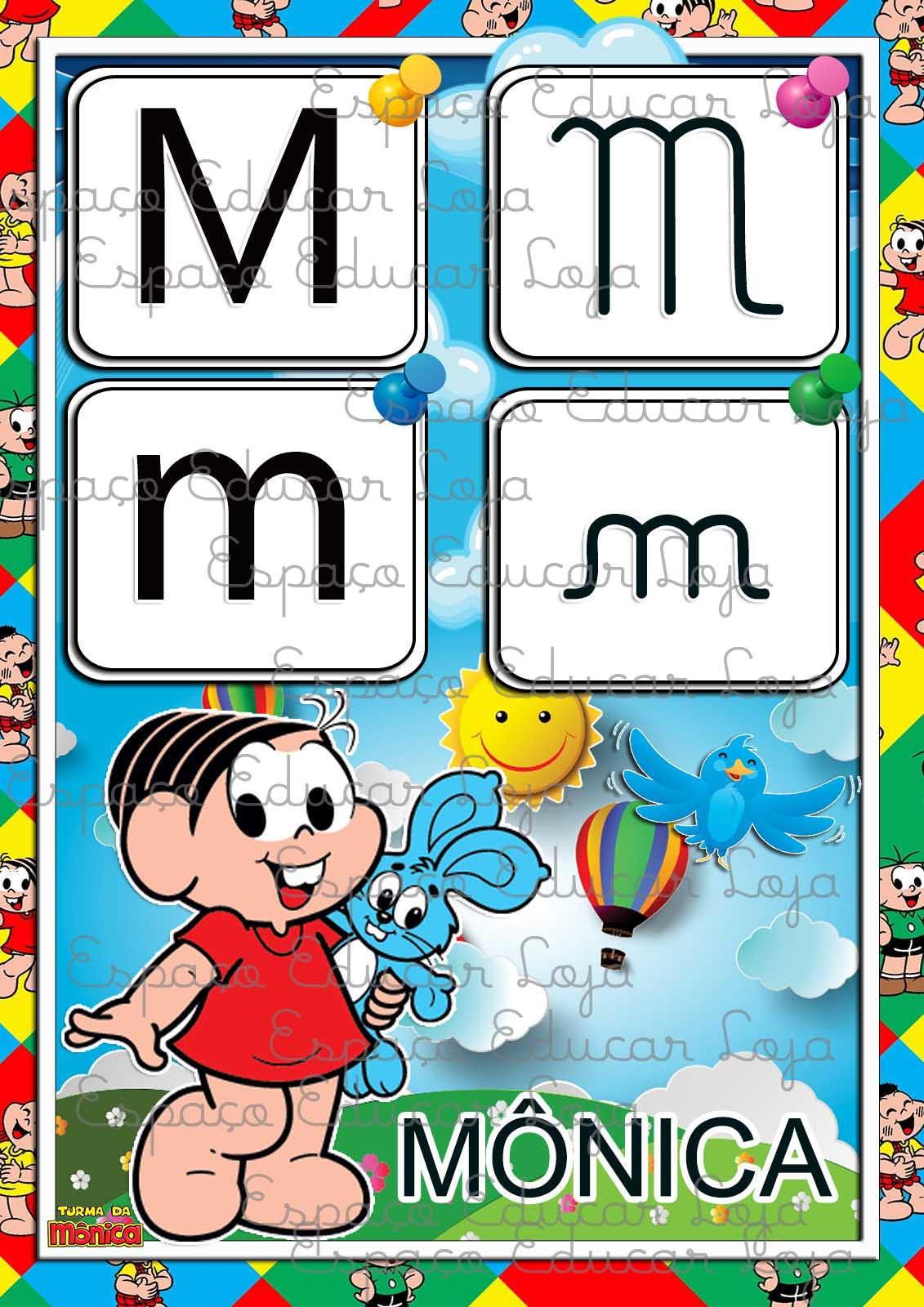 Cartazes Numerais Turma Da Monica Coloridos 0 A 10 Pdf54 No Elo7