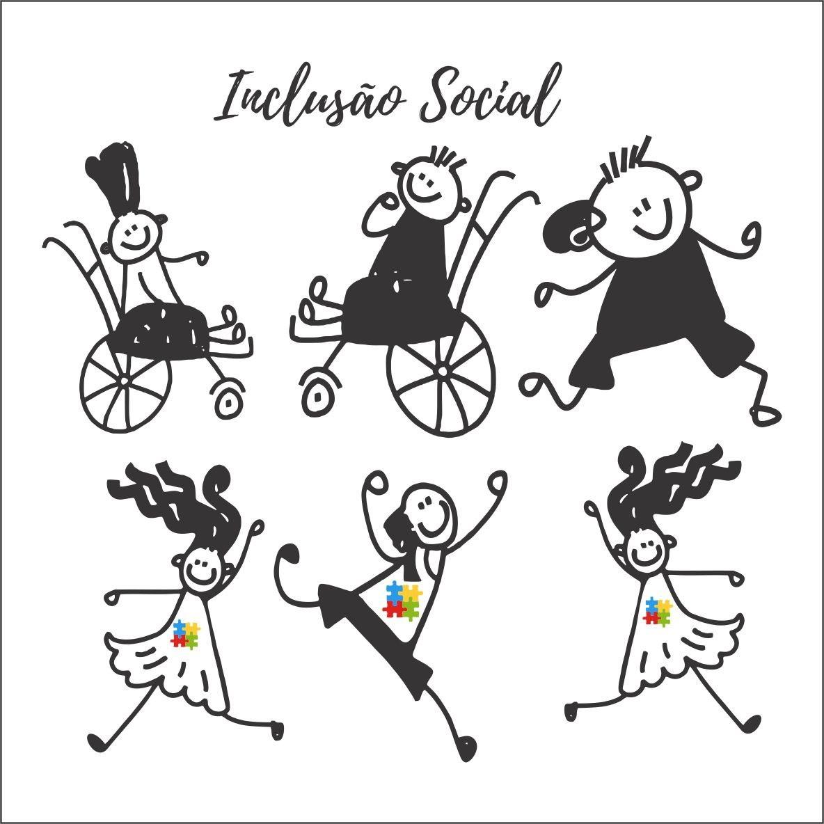 Adesivo Decorativo Criancas Especiais Inclusao Social No Elo7