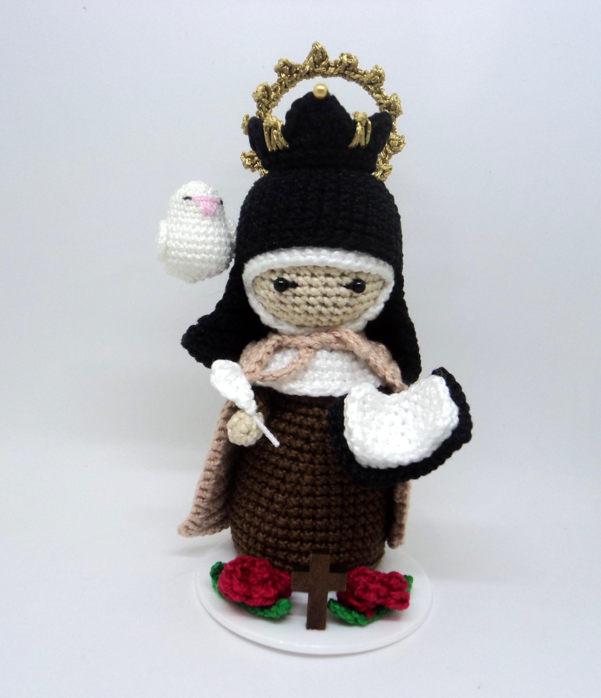 Santa Rita de Cássia - Amigurumi #croche #graficosdecroche ... | 2438x2101