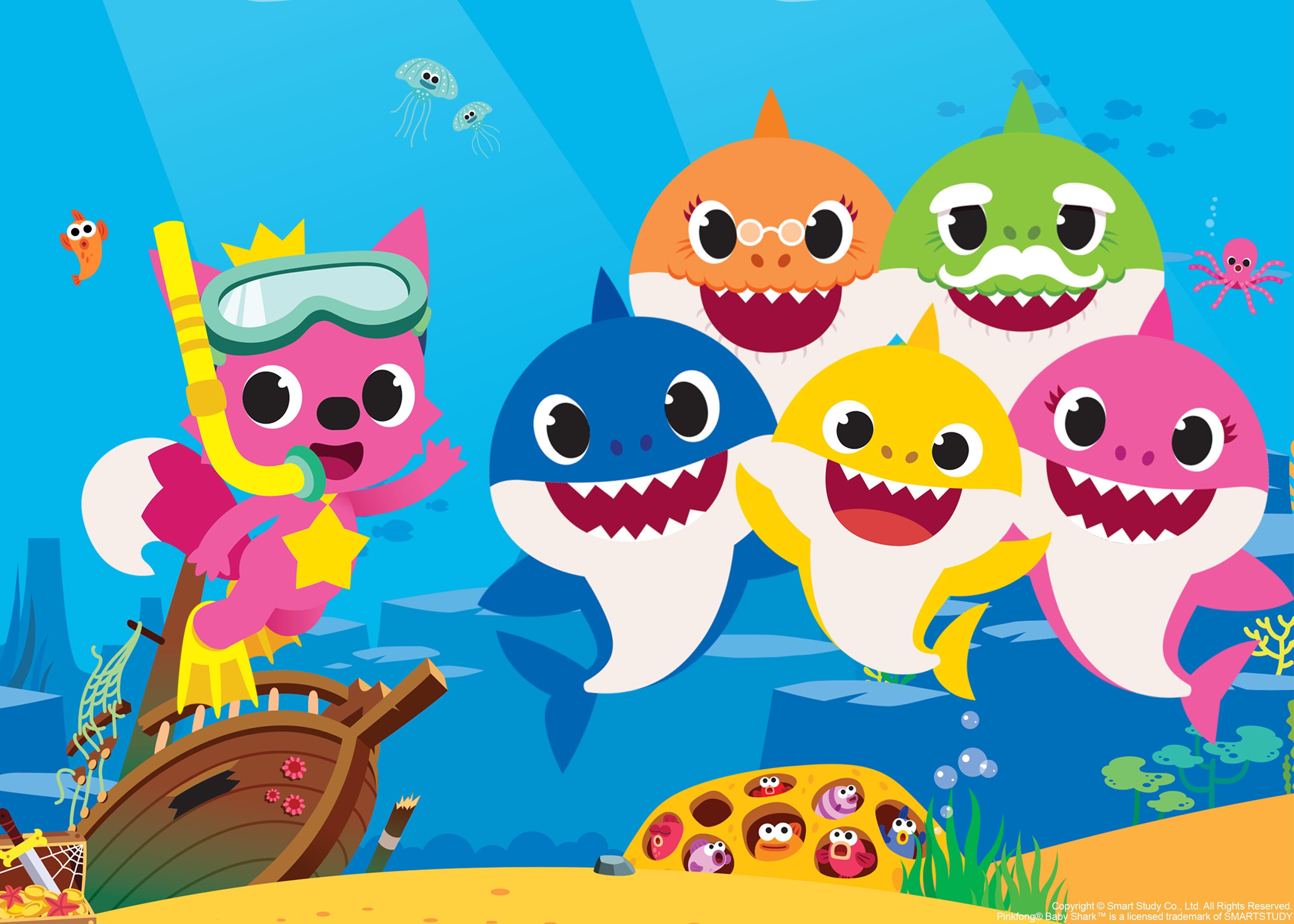 Painel 1 50 X 1 50m Baby Shark Elo7