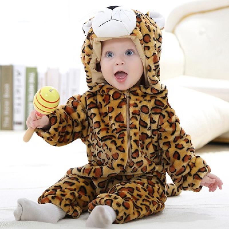 5a0ff8991218fc Macacão Pijama Bebê Bichinho Fantasia Leopardo Infantil