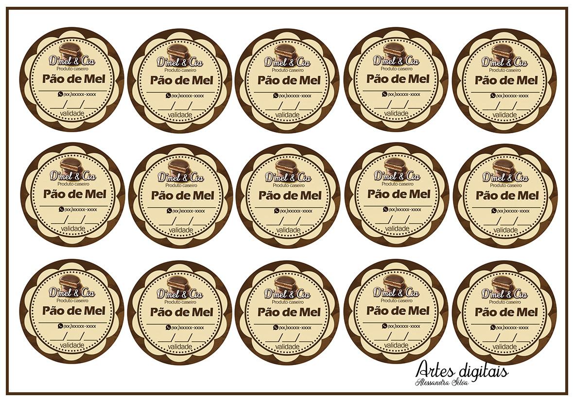 100 Etiquetas Personalizadas Para Pao De Mel No Elo7 Vem Fazer