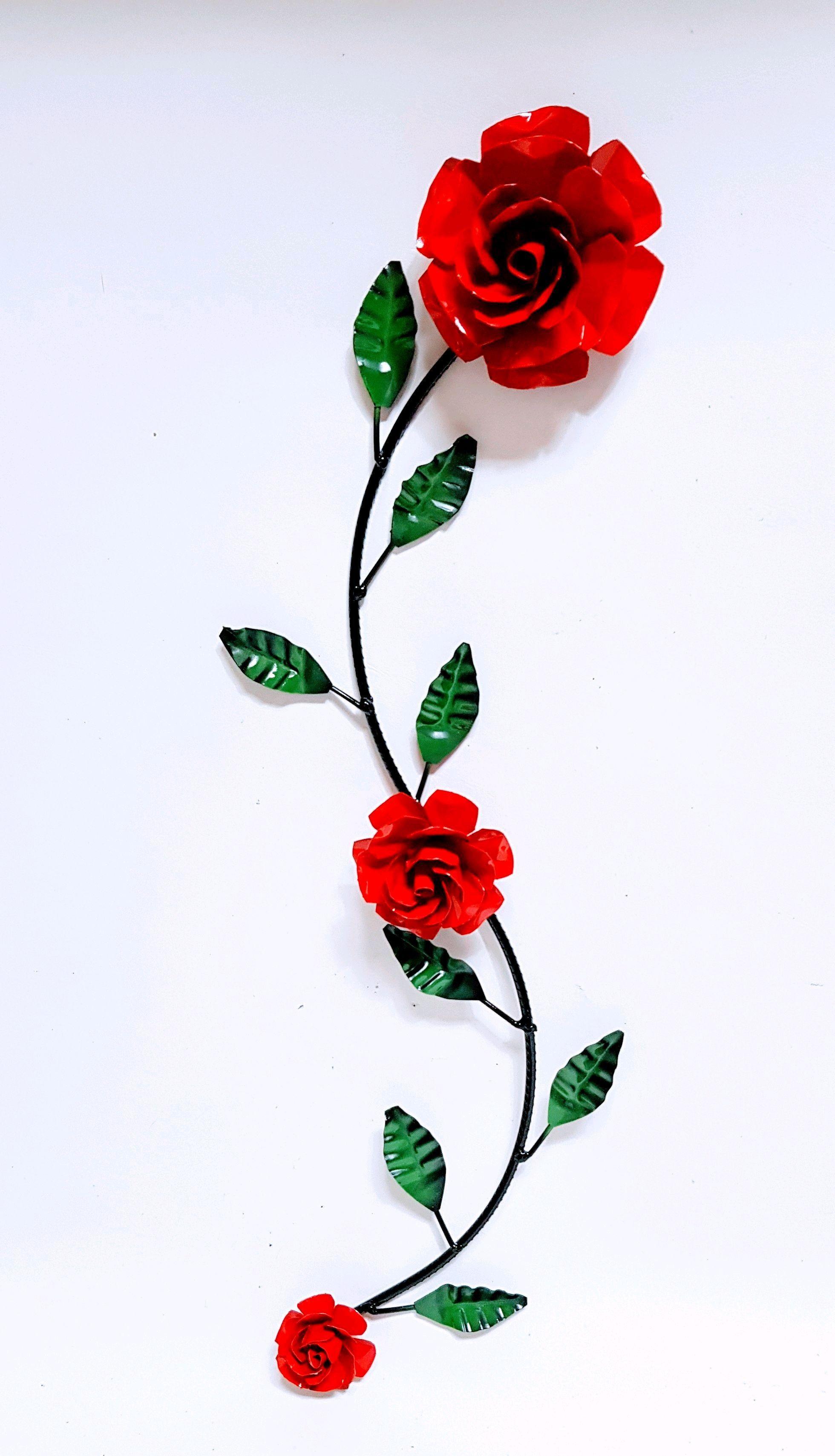 Ramo Decorativo Com Flor E Folhas No Elo7 Mund Arte Artesanatos