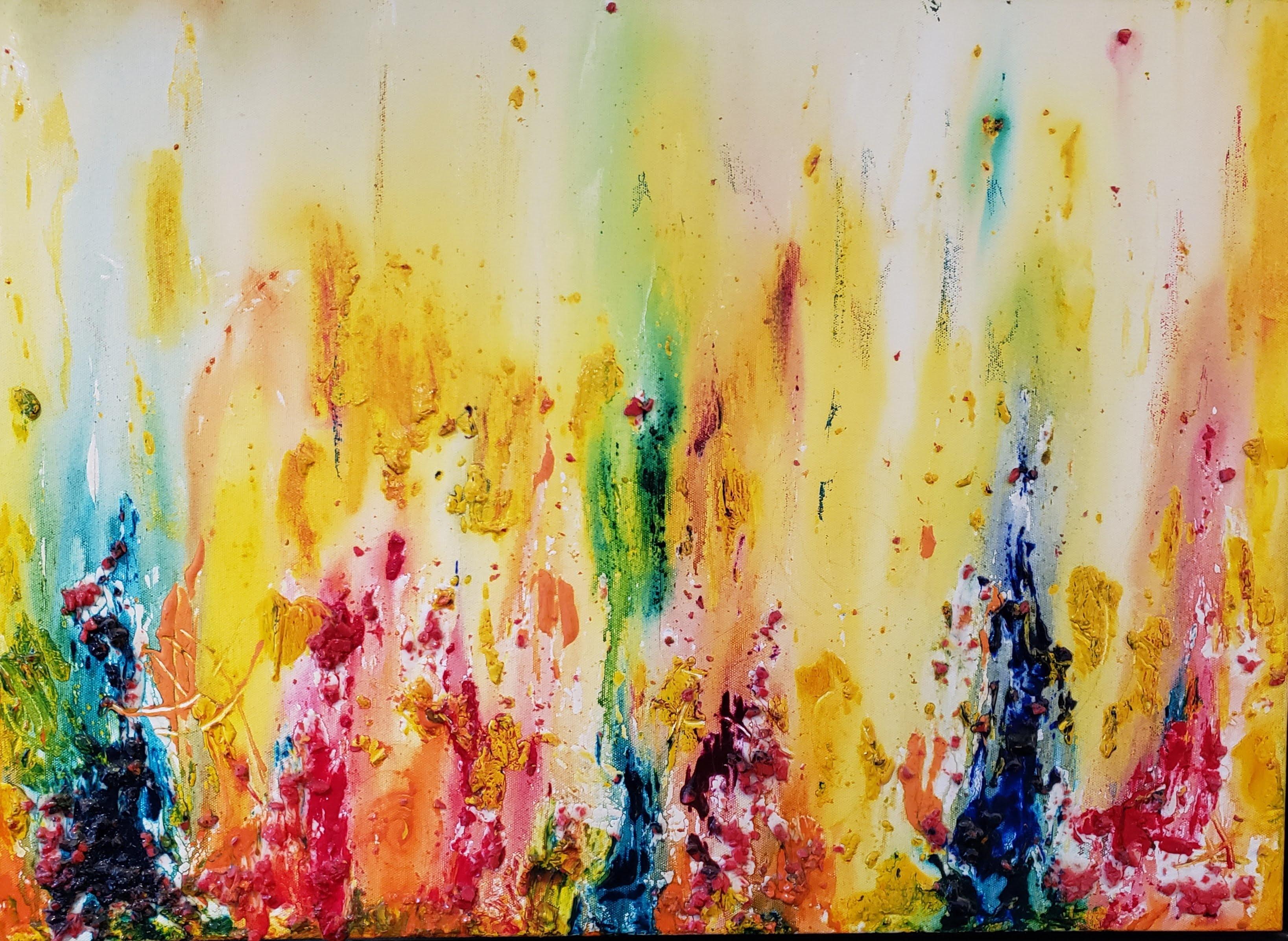quadro - pintura abstrata - quadro abstrato - cores vivas no Elo7 |  Patricia (1016413)