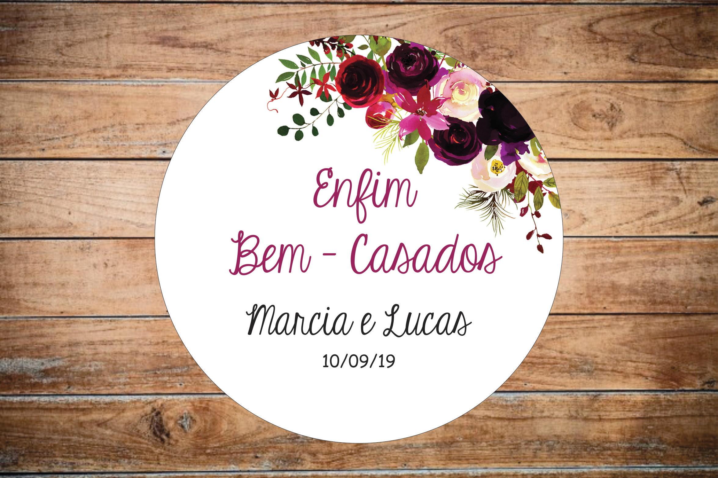 Tag Bem Casados Lembrancinha Floral T2 No Elo7 House