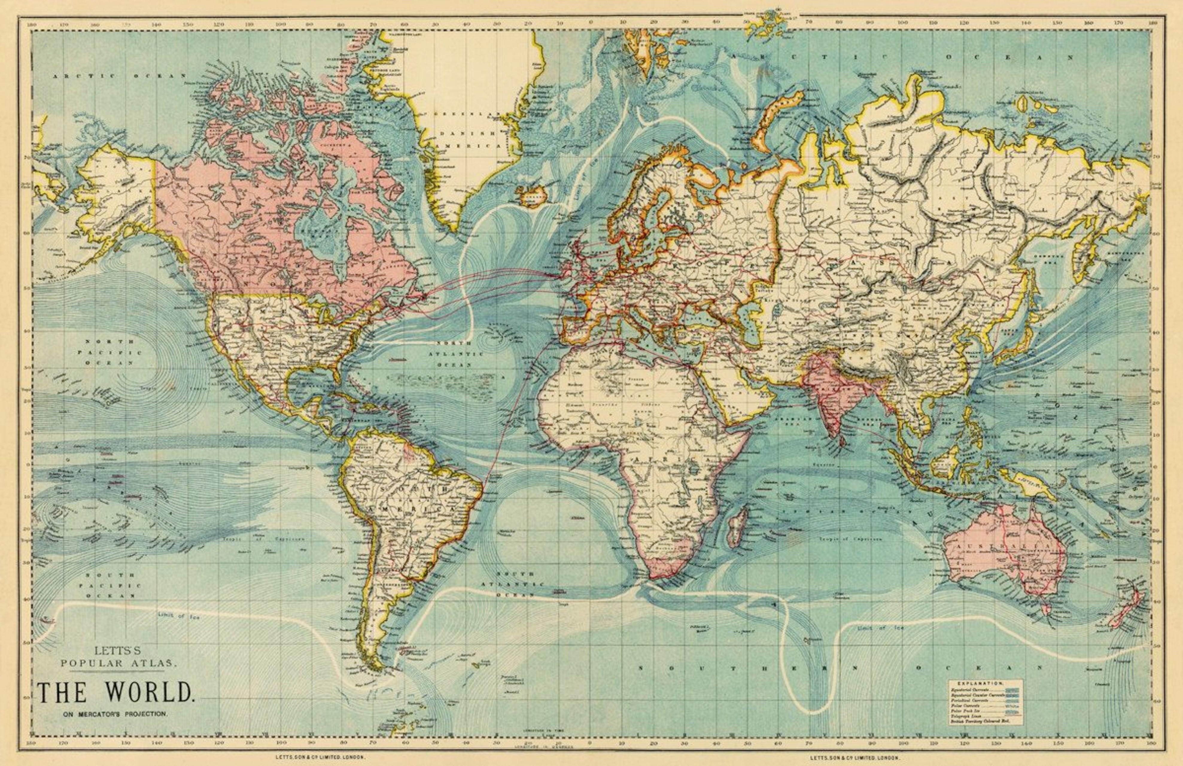 Quadro Poster Mapa Mundi Antigo No Elo7 Encantos Para Casa