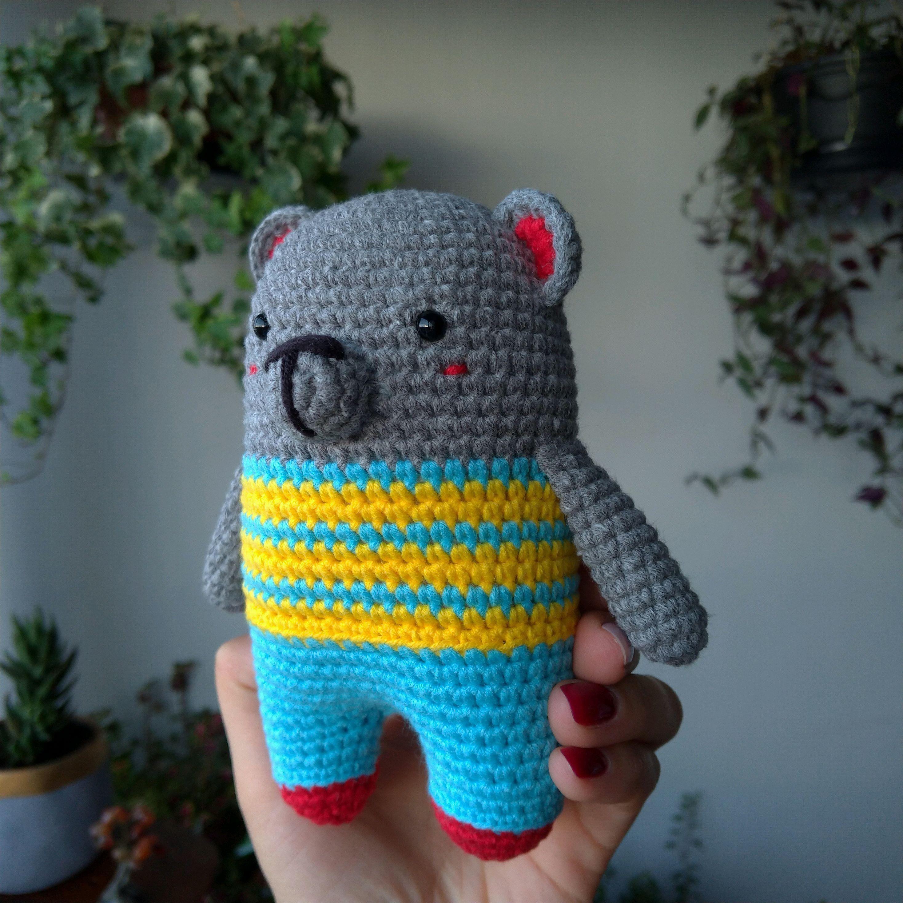 Urso Polar Receita de Amigurumi de Crochê Grátis - Little Bear ... | 2936x2936