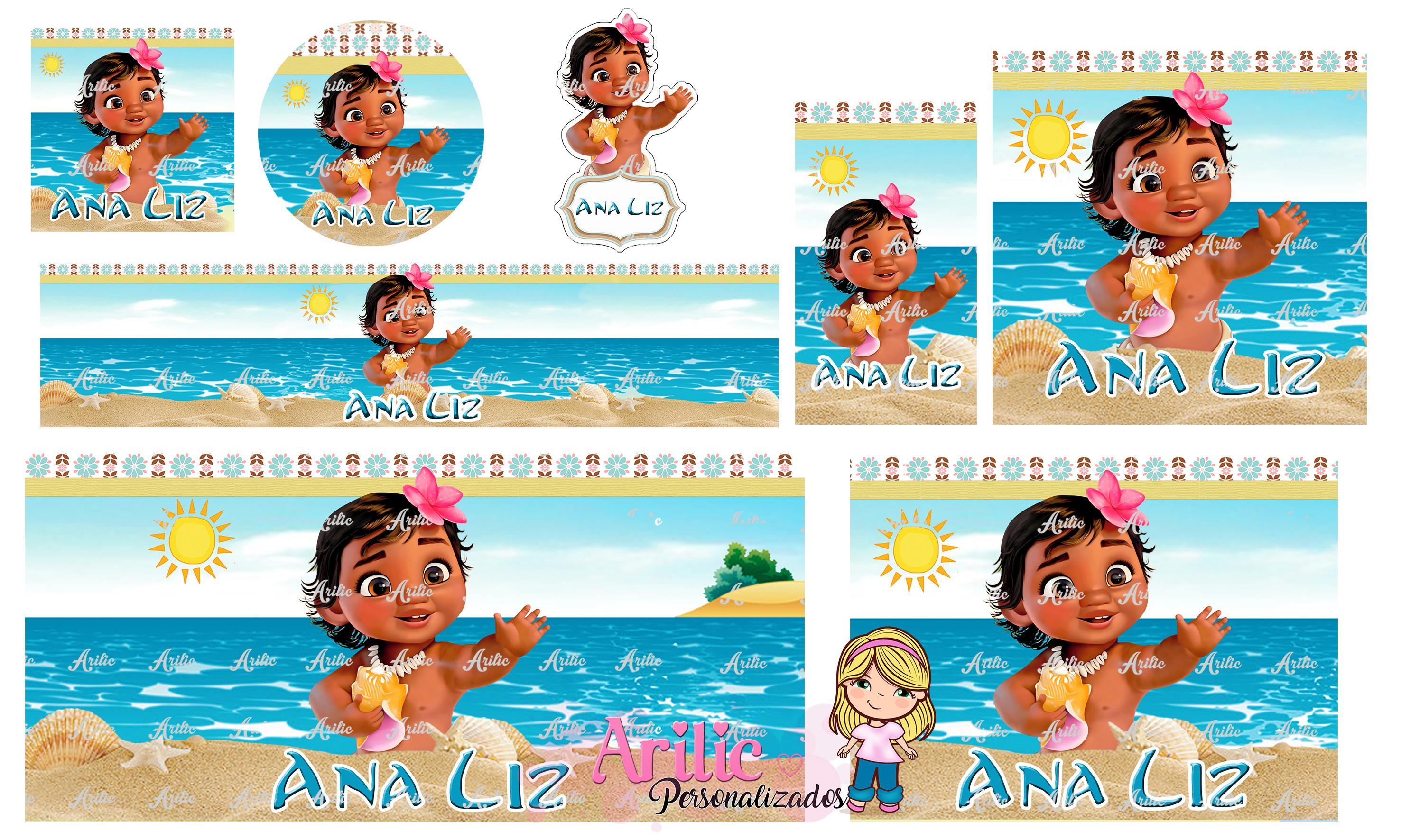 Kit Arte Digital Moana Baby Para Imprimir No Elo7 Arilic