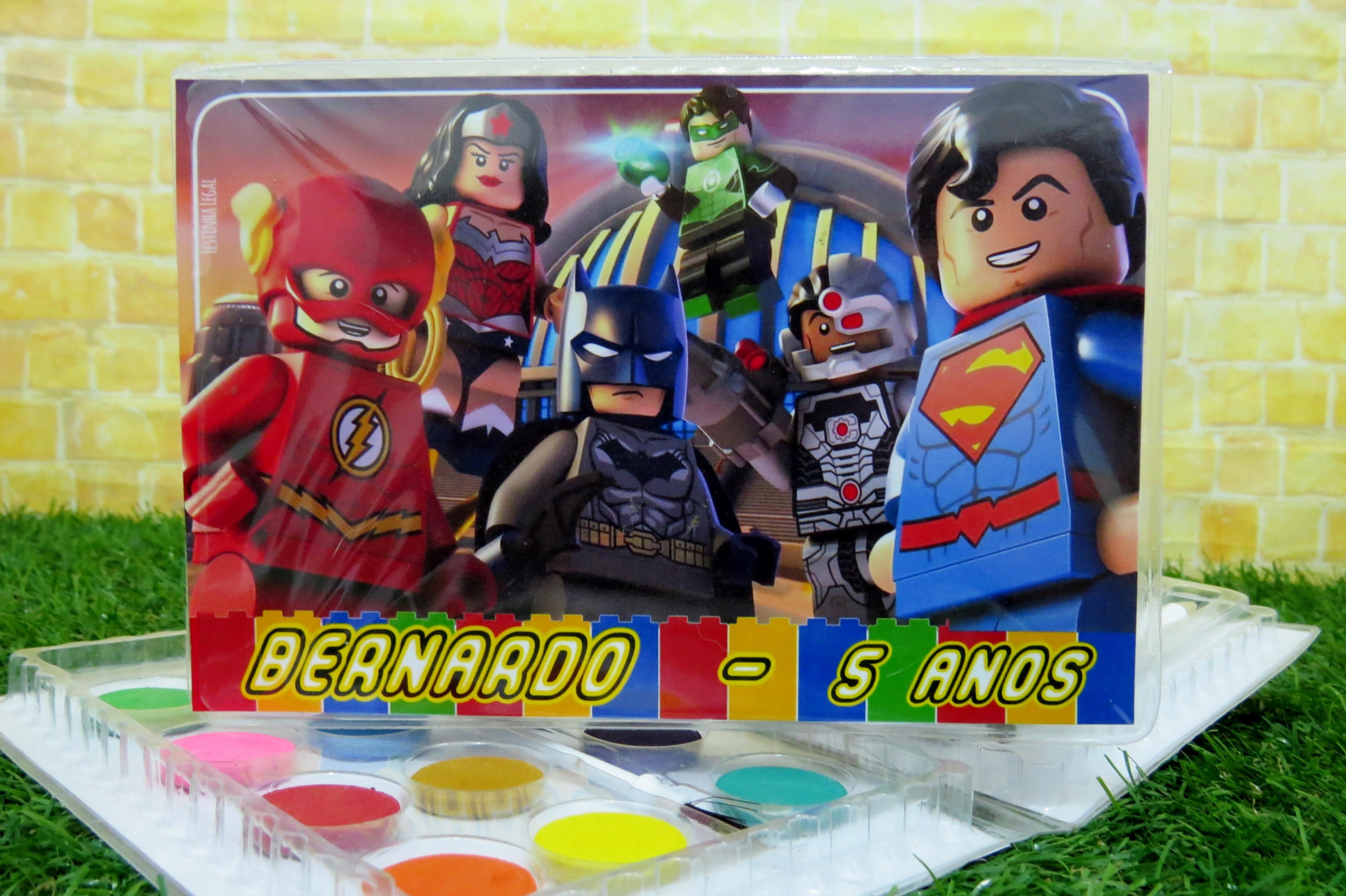Estojo 31 Itens De Colorir Lego Liga Da Justica Kit Completo No