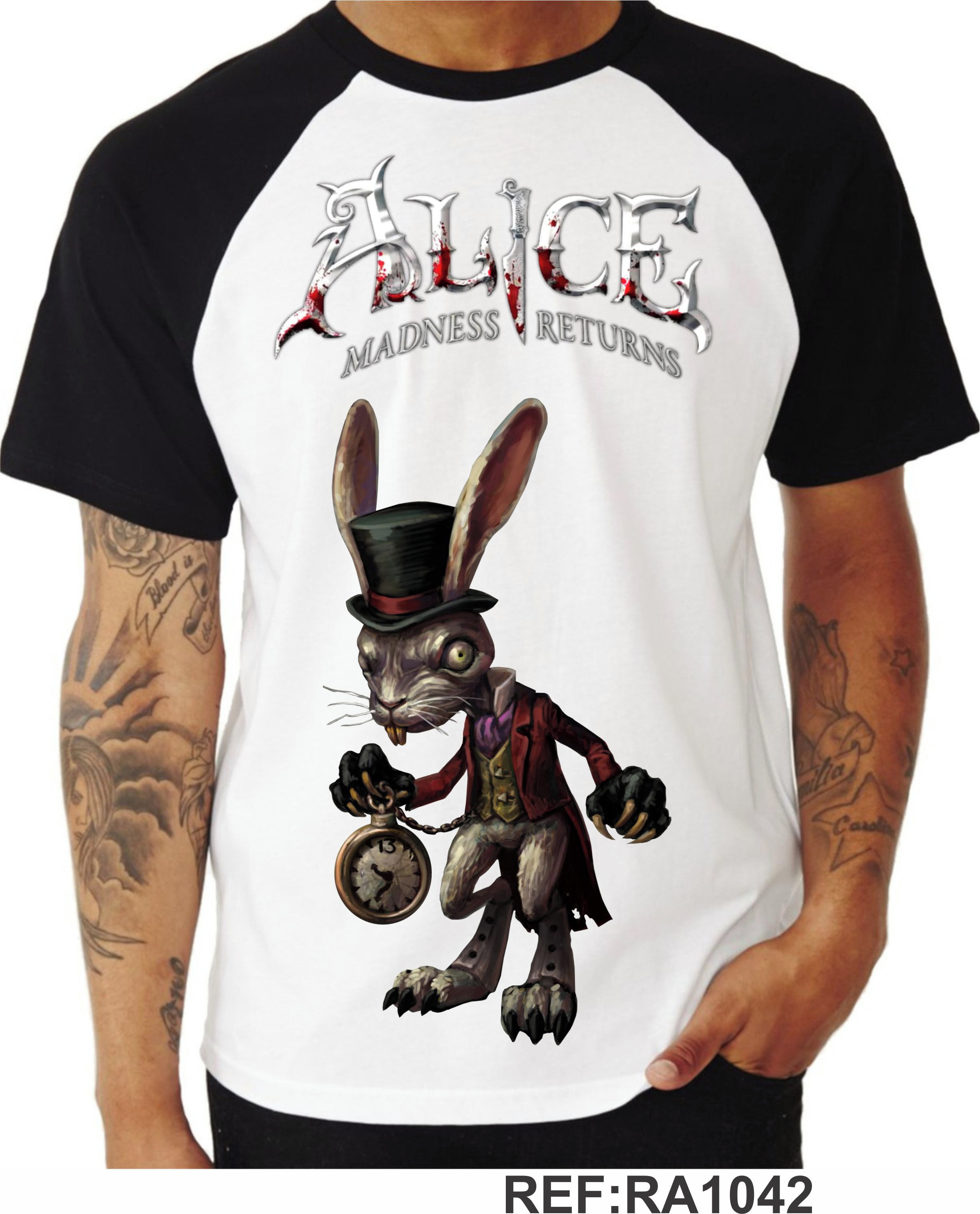 Camiseta Alice Madness Returns Raglan 02 No Elo7 Composit