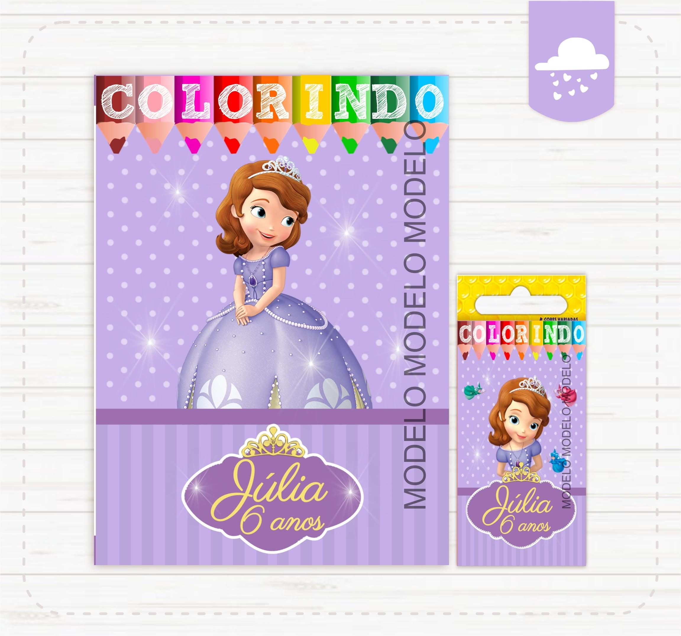 Princesa Sofia Kit Colorir No Elo7 Criativa Artes Bh Mg 105895a