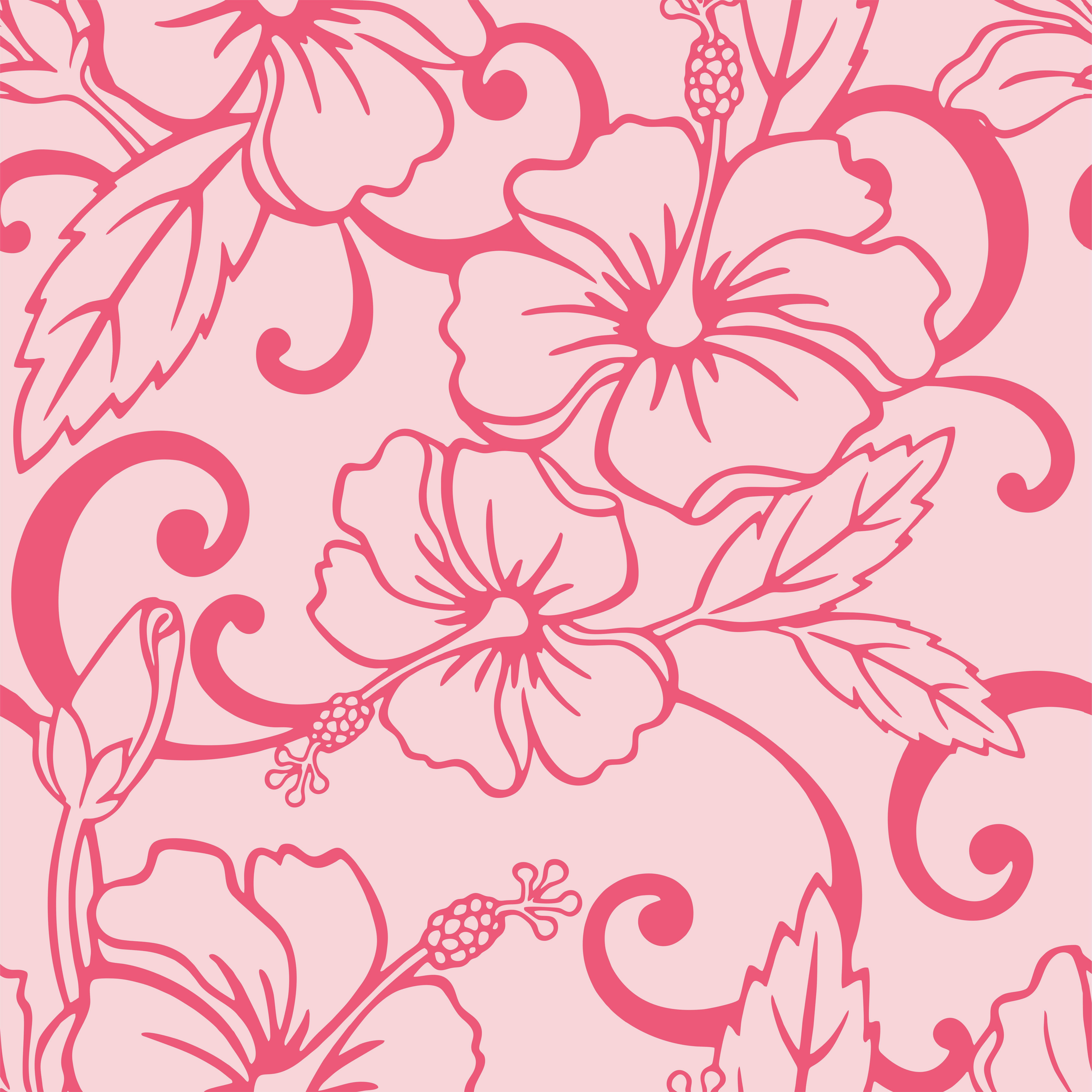 Papel De Parede Floral Tribal Fundo Rosa Autocolante No Elo7 B