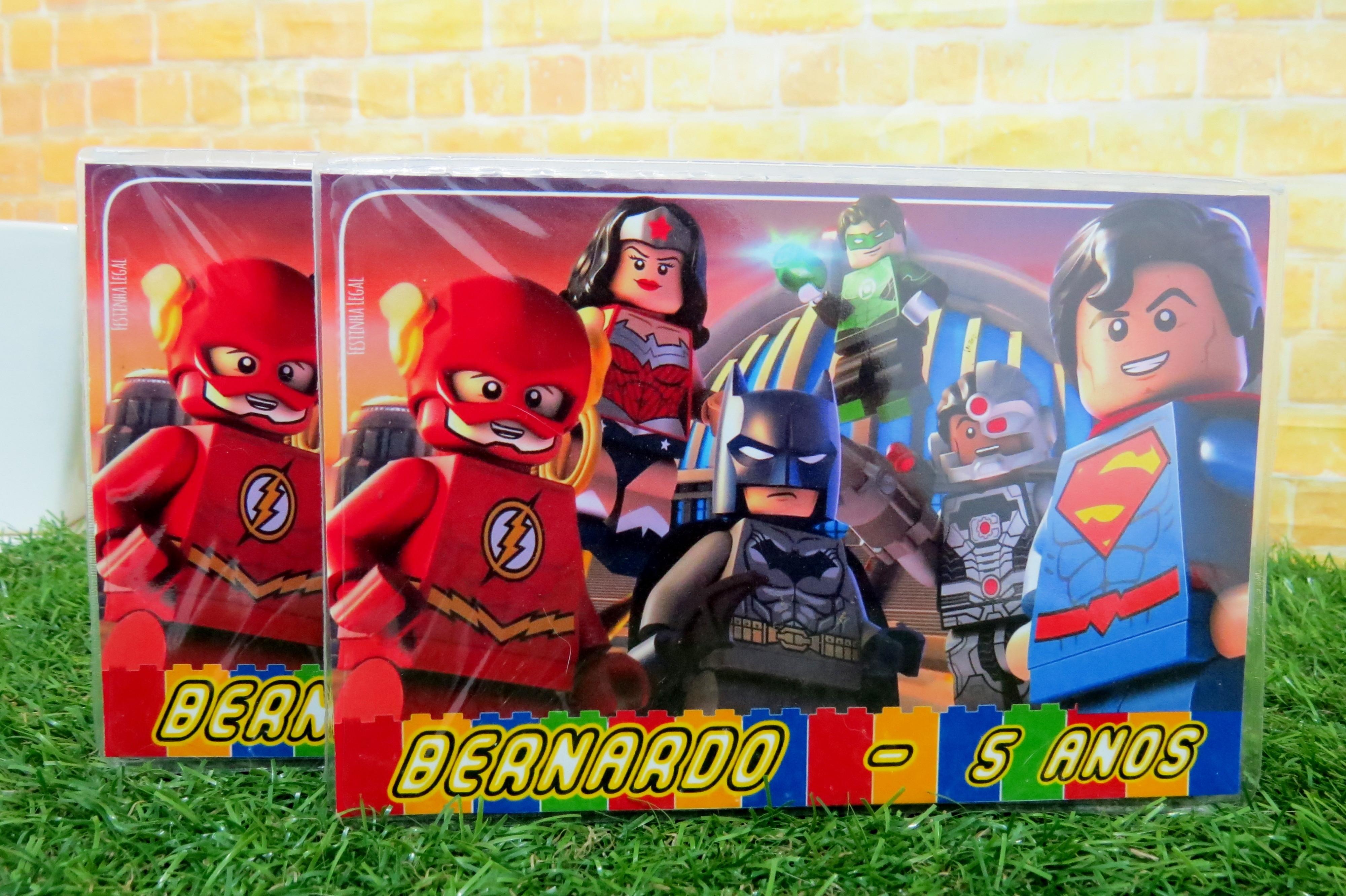 40 Maletas 31 Itens Colorir Lego Liga Da Justica Completas No Elo7