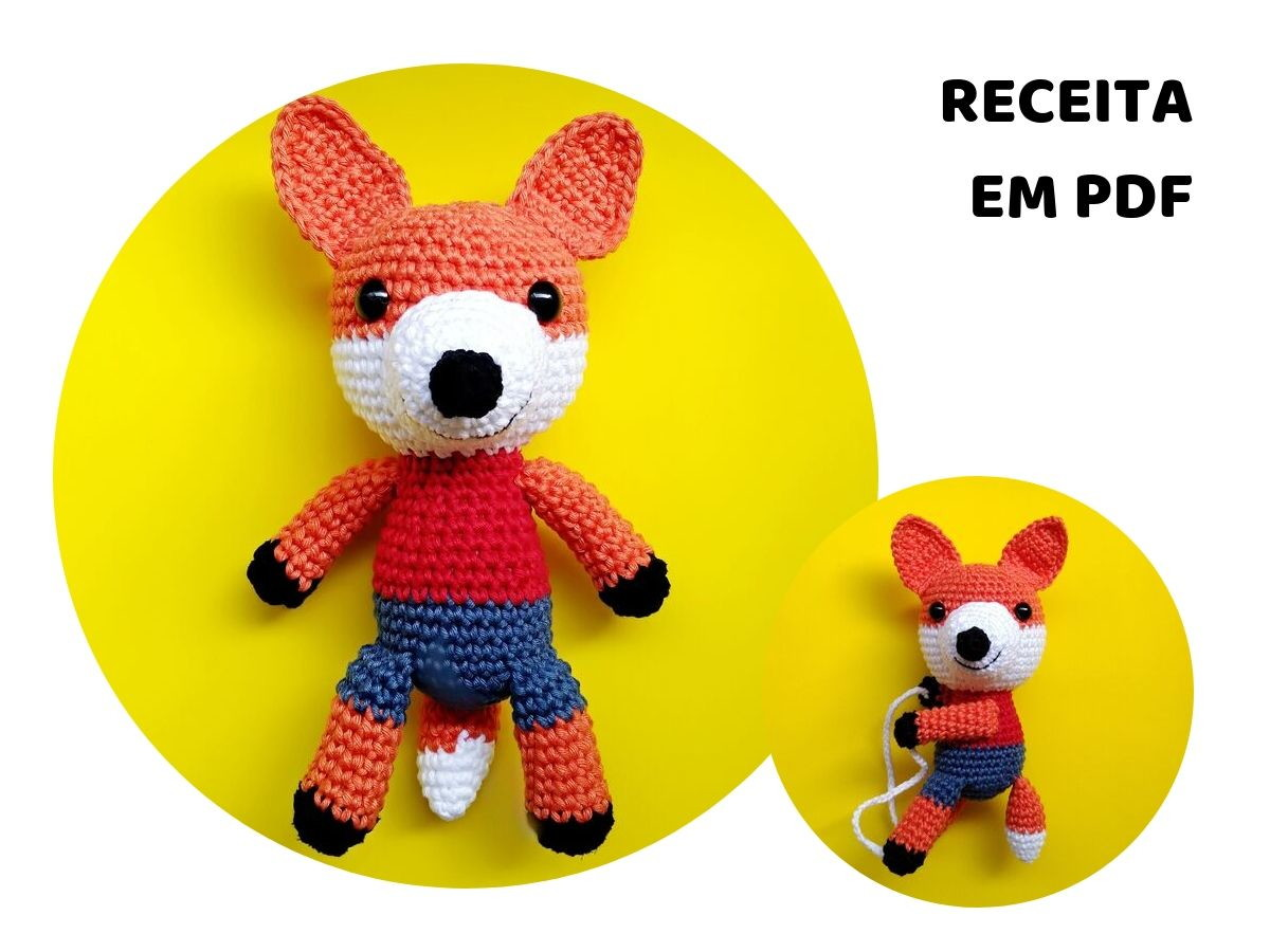 Amigurumi Crochet Fox Pattern by Little Bear Crochets | 900x1200