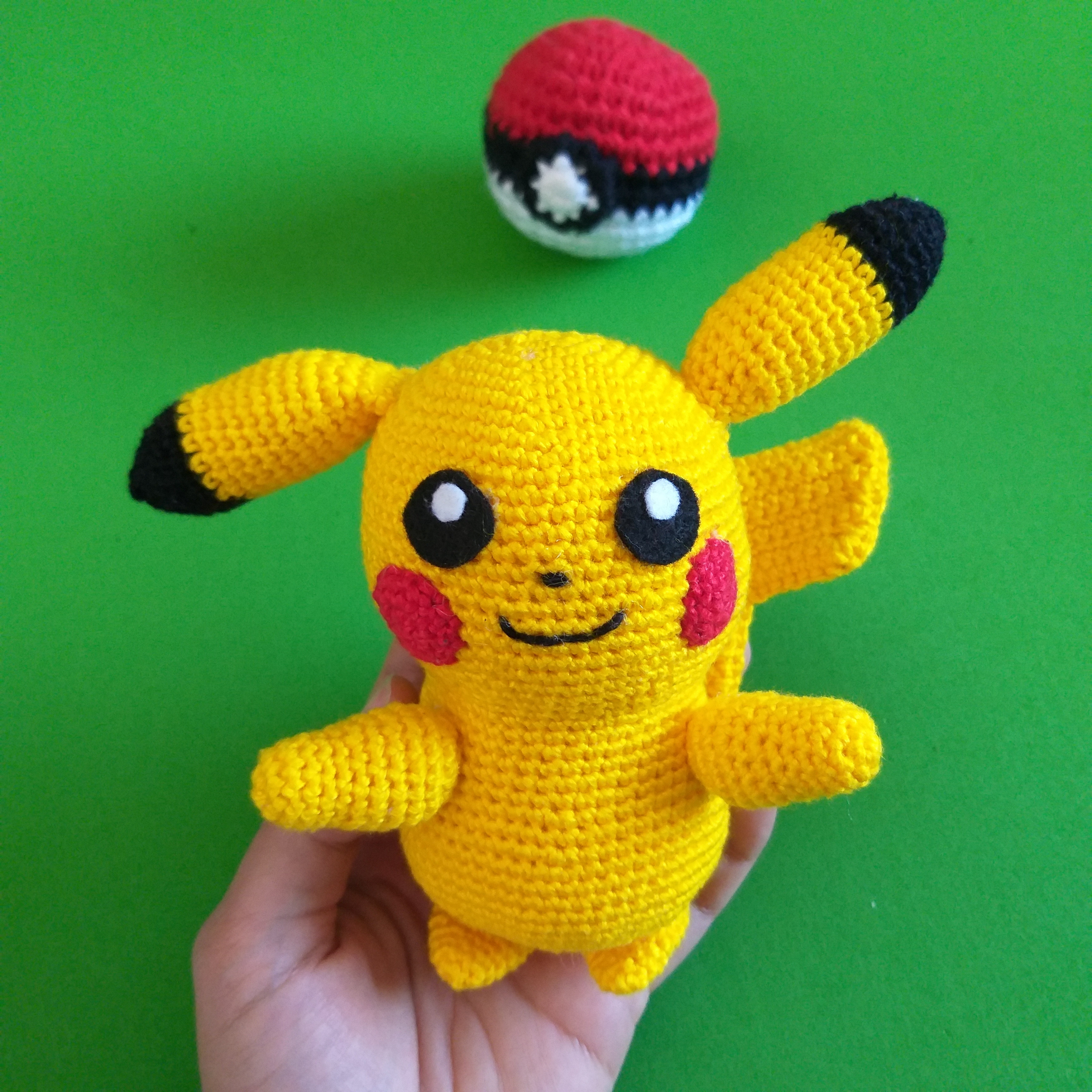 Pikachu (Pokemon) Amigurumi Pattern ⋆ Crochet Kingdom | 3456x3456