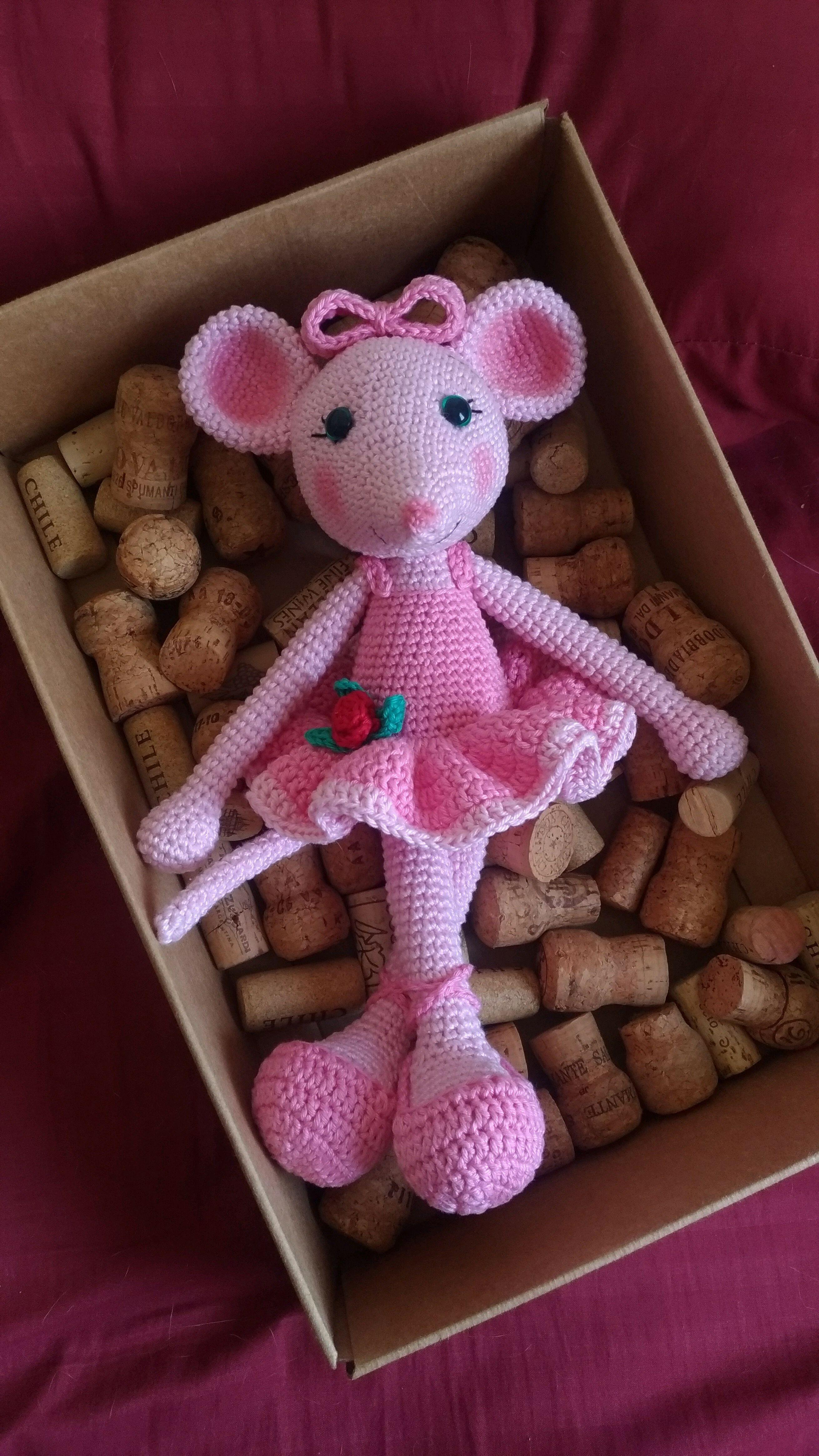 Amigurumi Angelina Ballerina | Háčkované hračky, Háčkování ... | 4656x2620