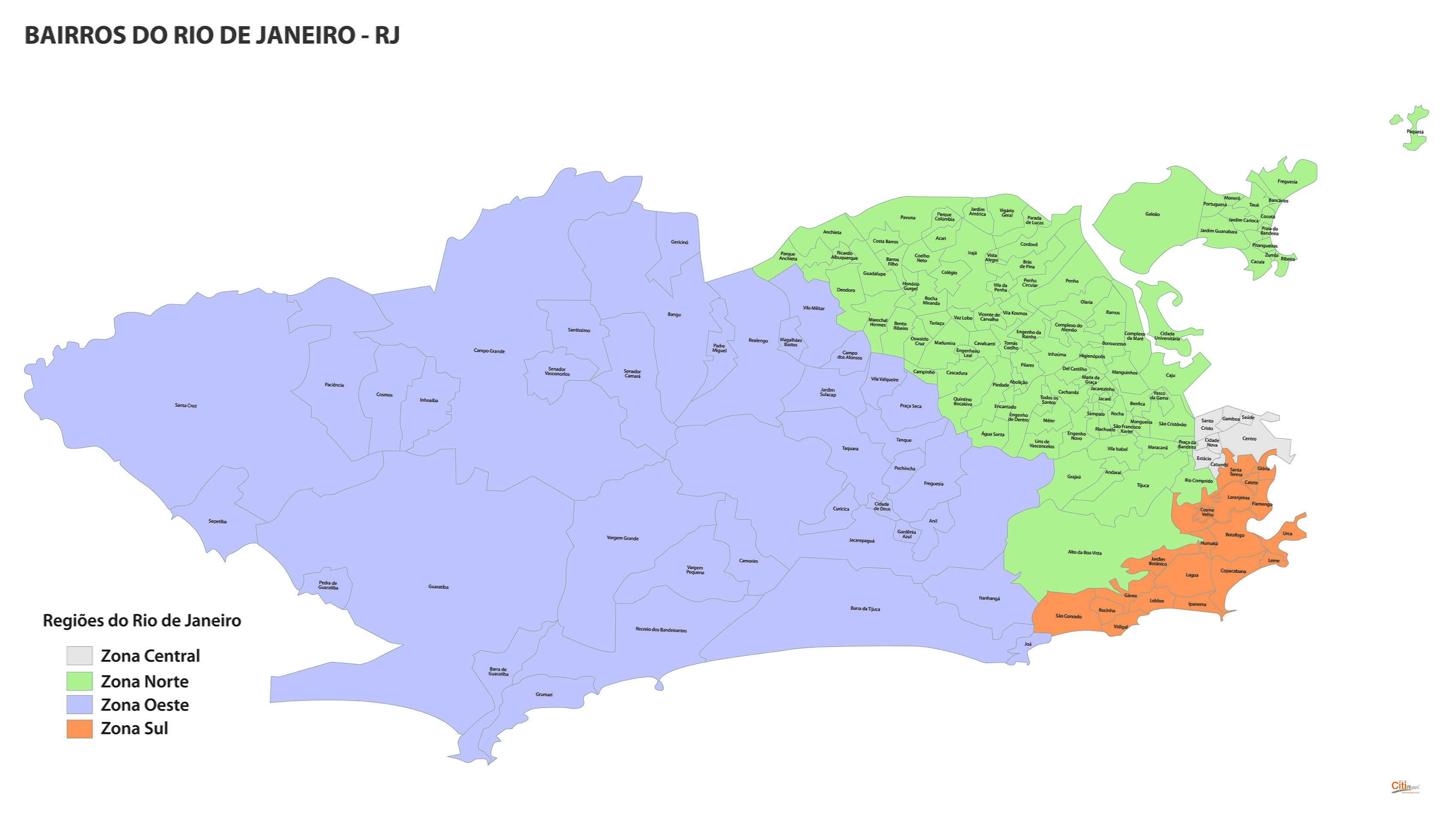 Rio De Janeiro Mapa Bairros.Rio De Janeiro Mapas Bairros Adesivo